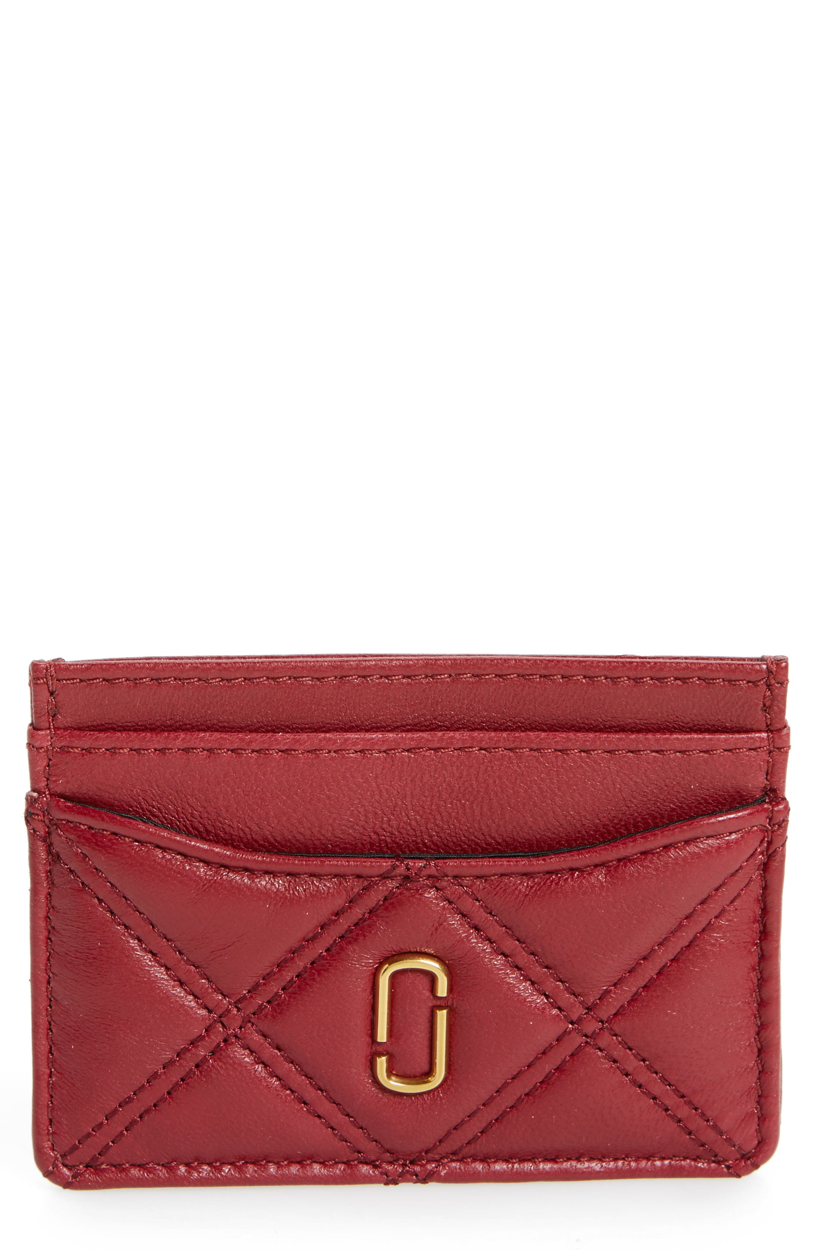 Alternate Image 1 Selected - MARC JACOBS Quilted Leather Card Case