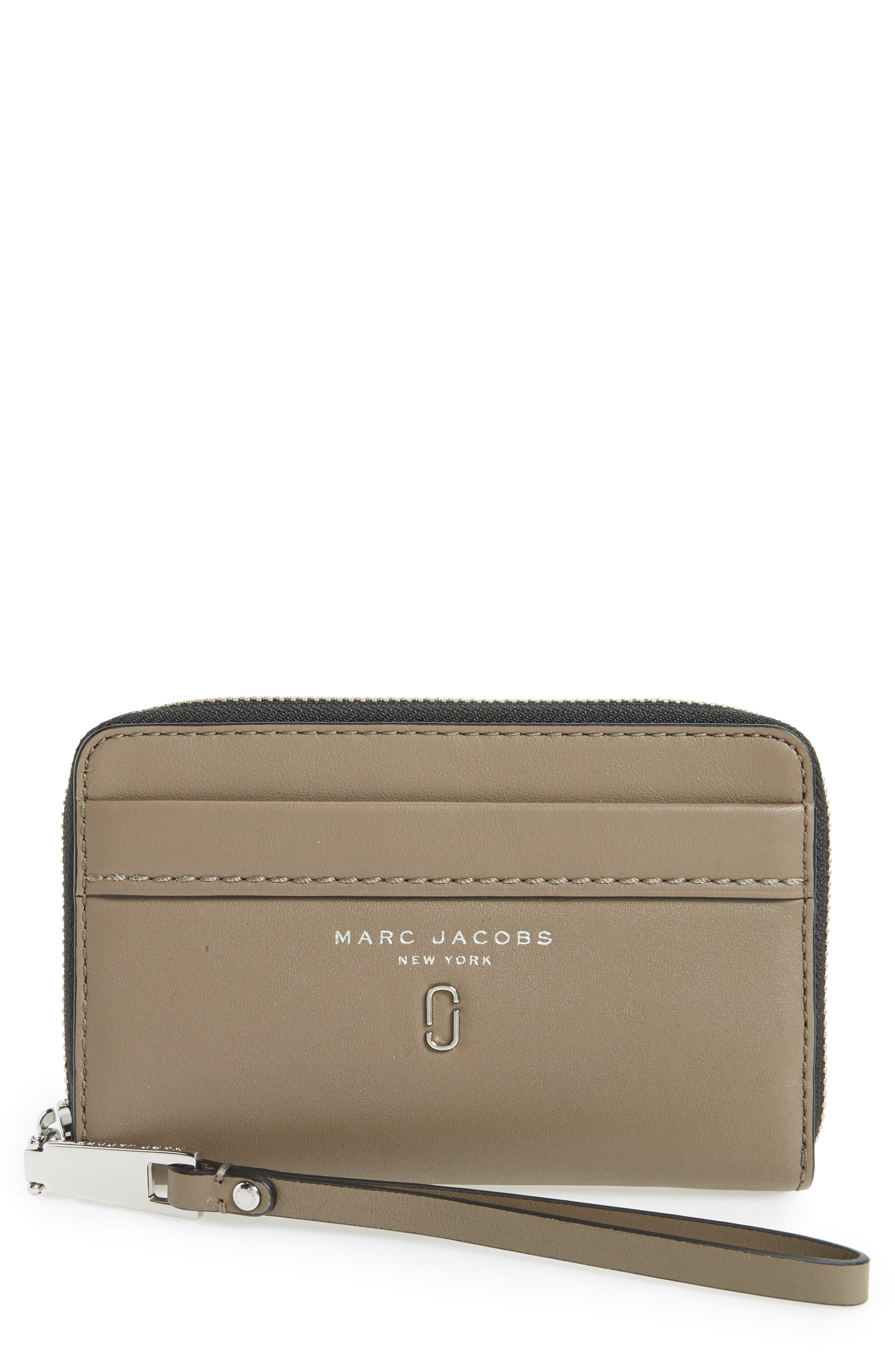 MARC JACOBS Tied Up Leather Phone Wristlet