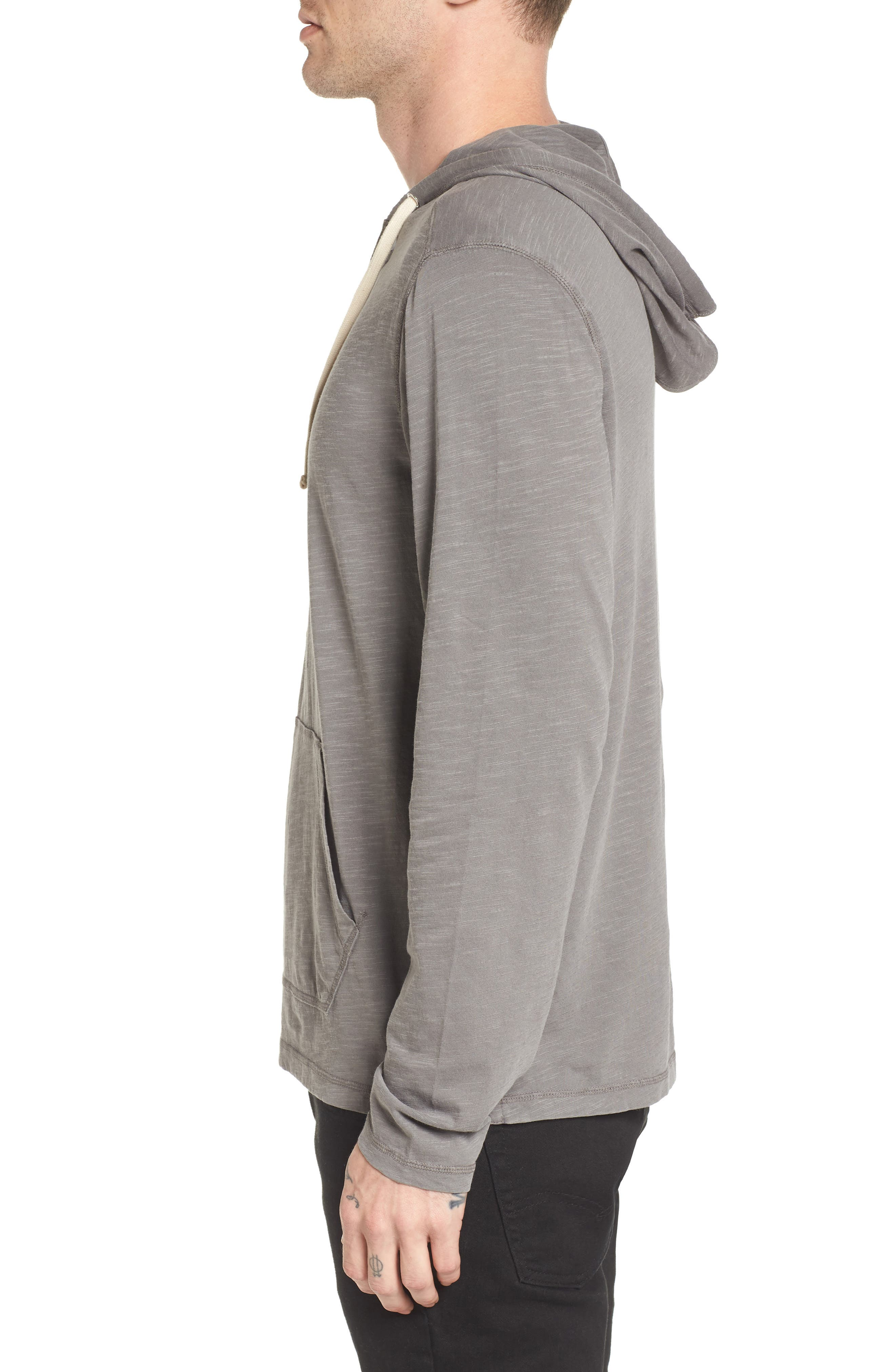 Henley Hoodie,                             Alternate thumbnail 4, color,                             Grey Charcoal