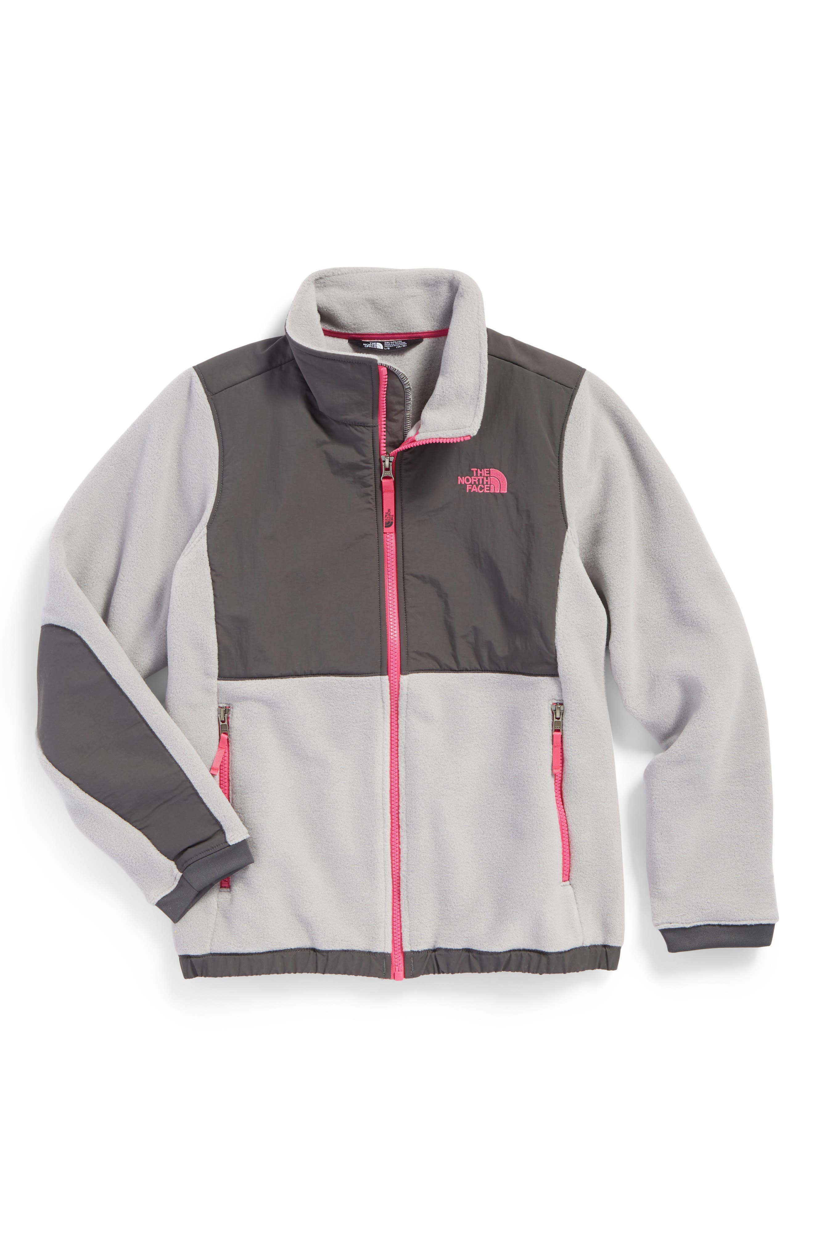 Alternate Image 1 Selected - The North Face Denali Recycled Fleece Jacket (Big Girls)