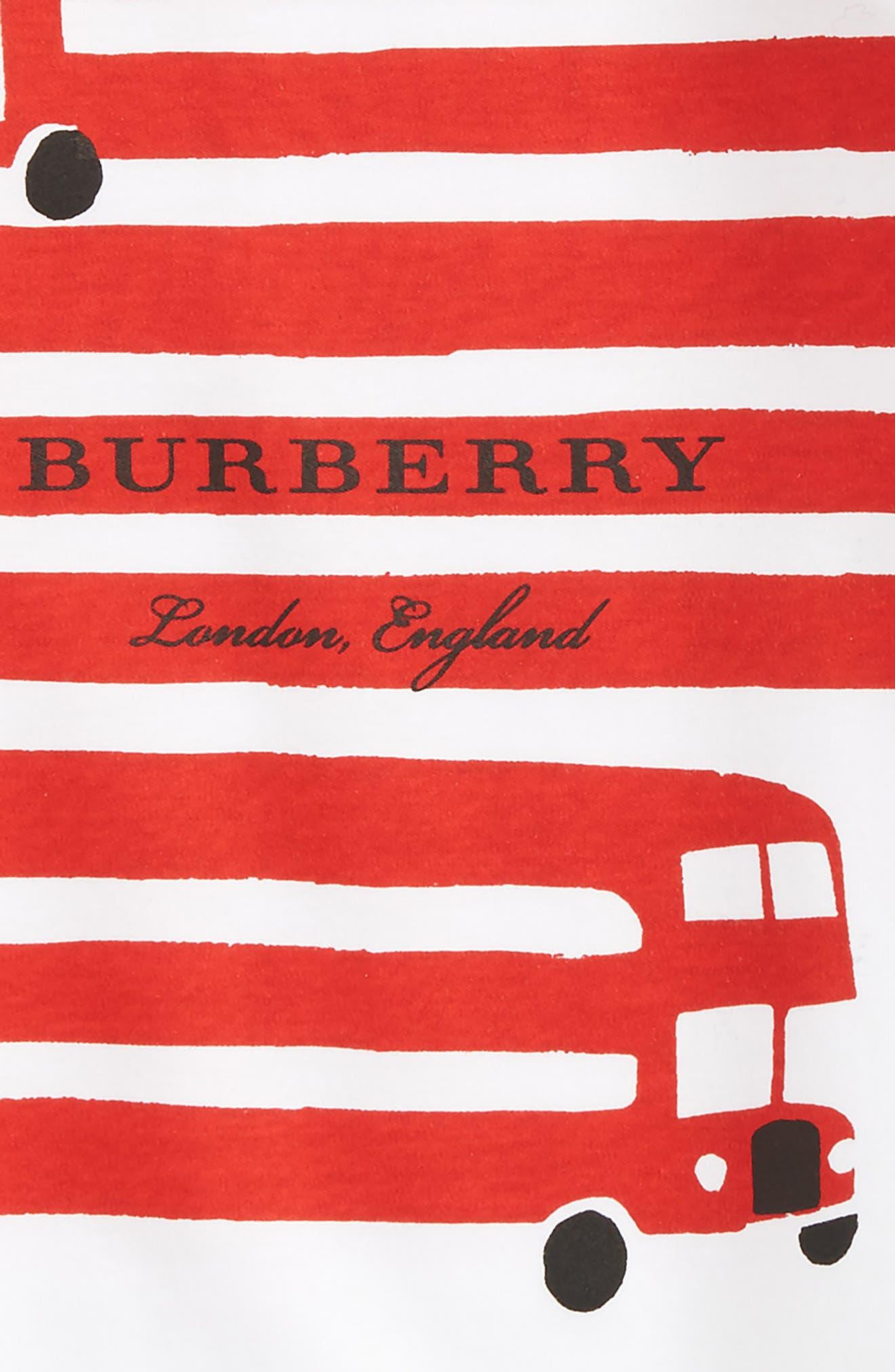 Alternate Image 2  - Burberry Bus Graphic Romper (Baby Girls)