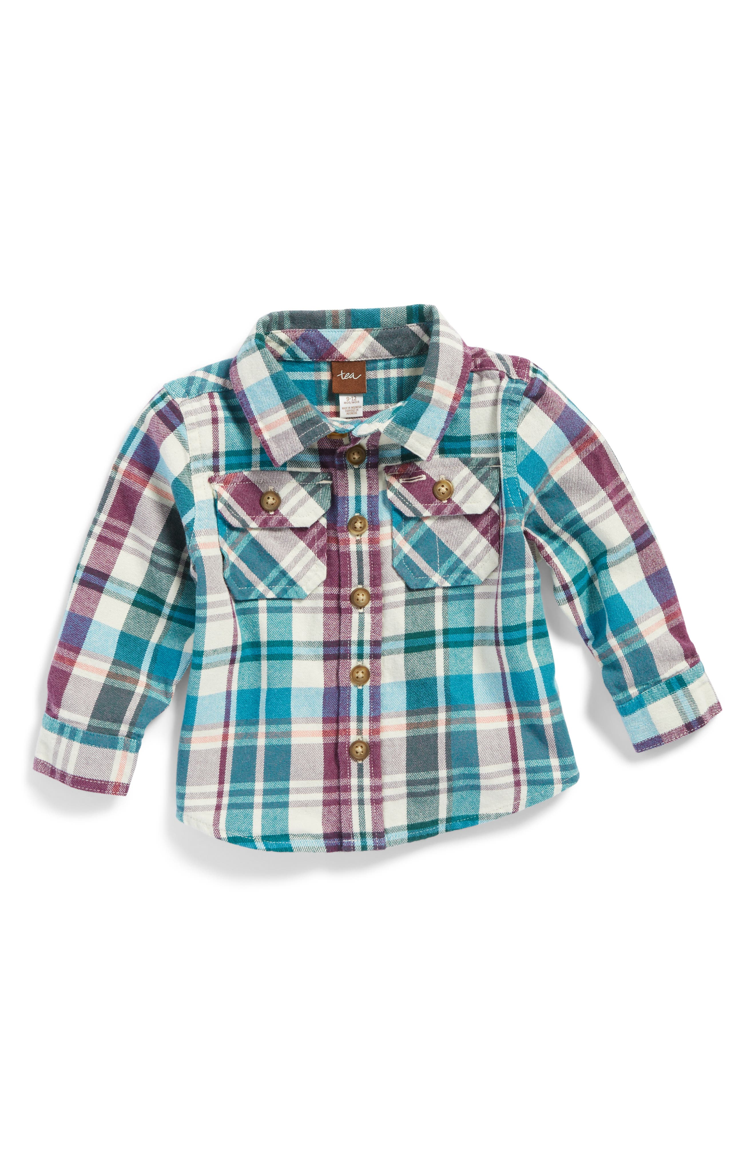 Alternate Image 1 Selected - Tea Collection Beaufort Plaid Flannel Shirt (Baby Boys)