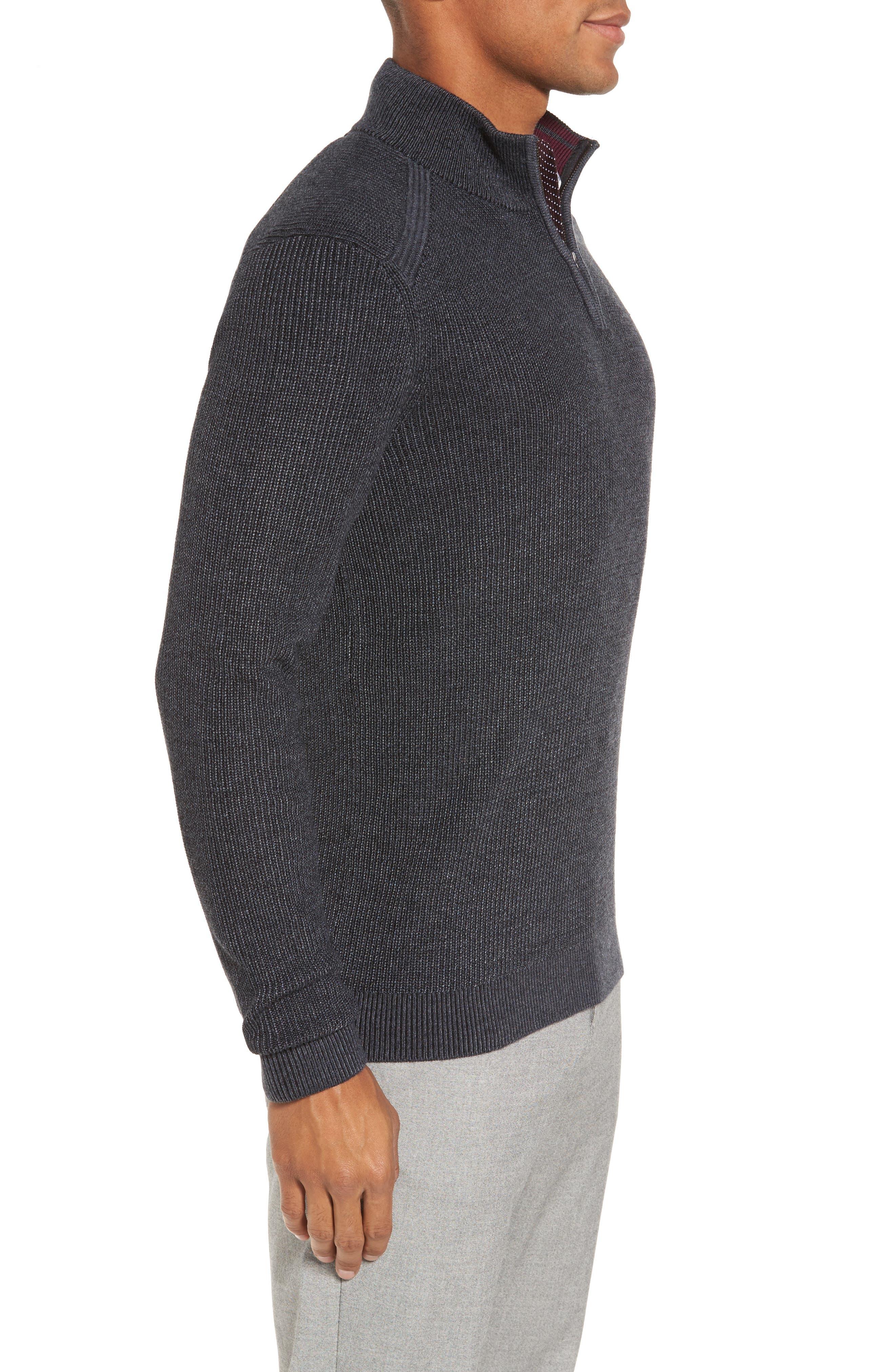 Alternate Image 3  - Ted Baker London Slim Fit Quarter Zip Sweater (Tall)