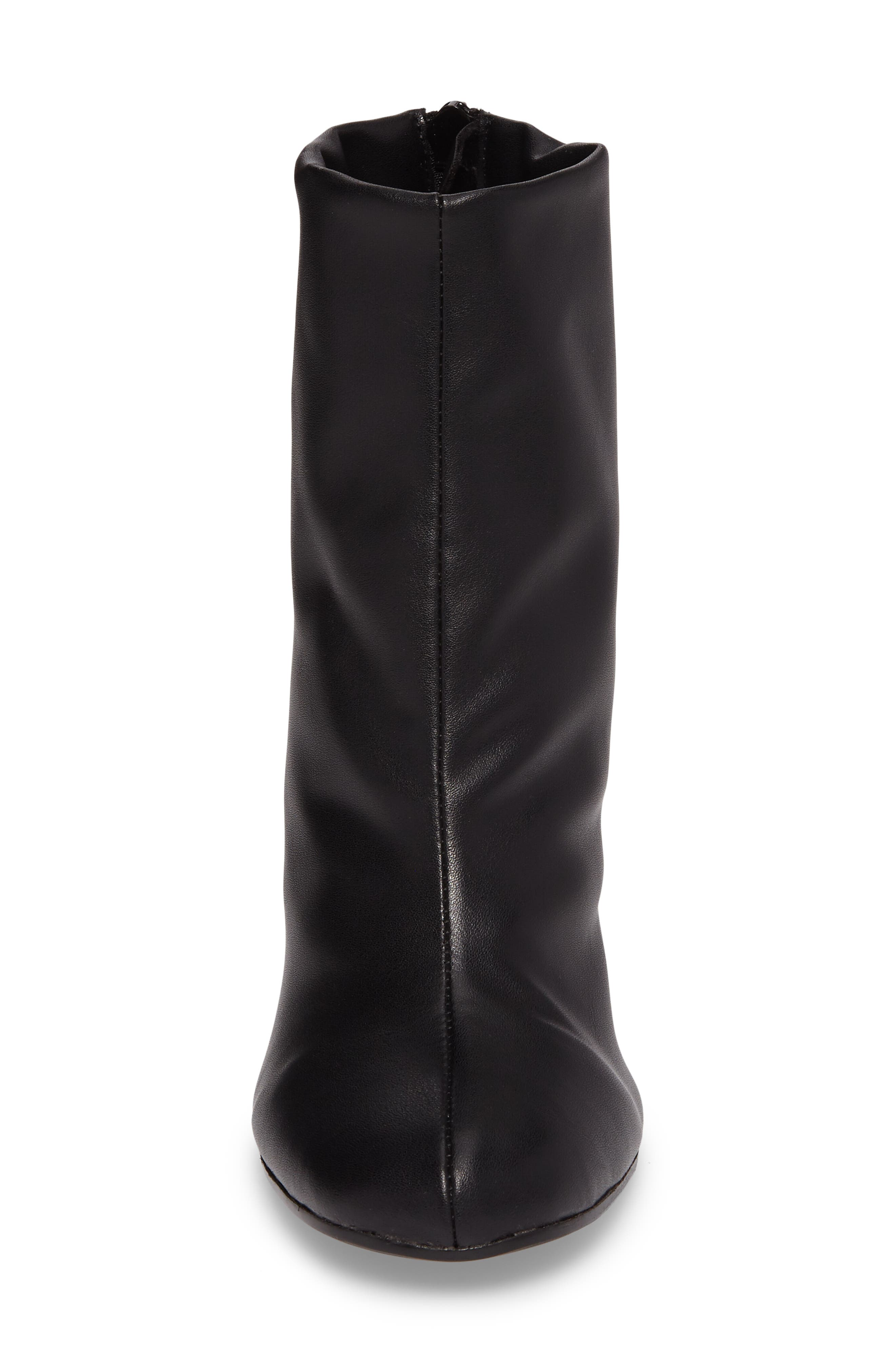 Nyx Stretch Bootie,                             Alternate thumbnail 4, color,                             Black Nappa Leather
