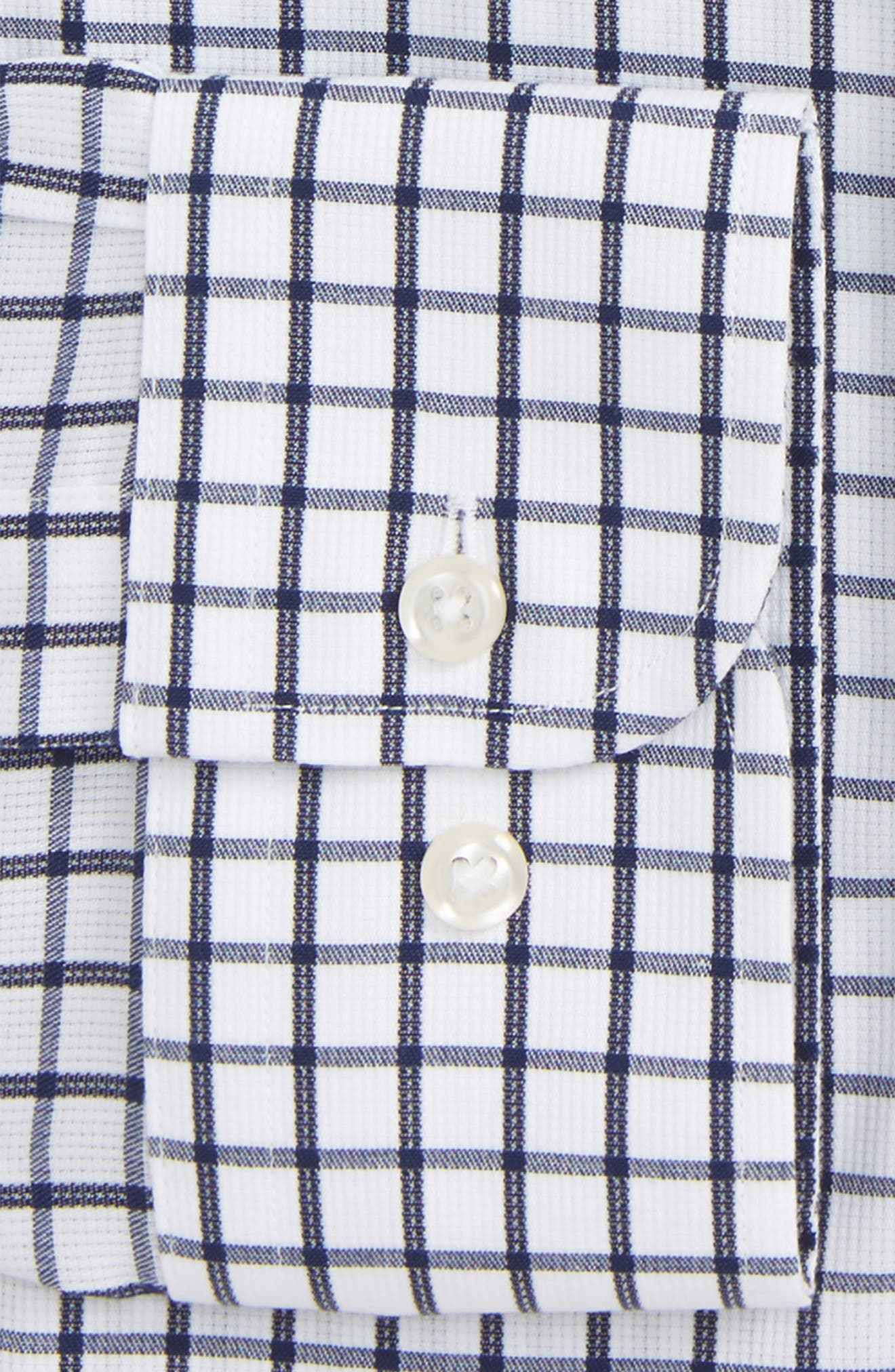 Smartcare<sup>™</sup> Traditional Fit Check Dress Shirt,                             Alternate thumbnail 2, color,                             Navy Iris