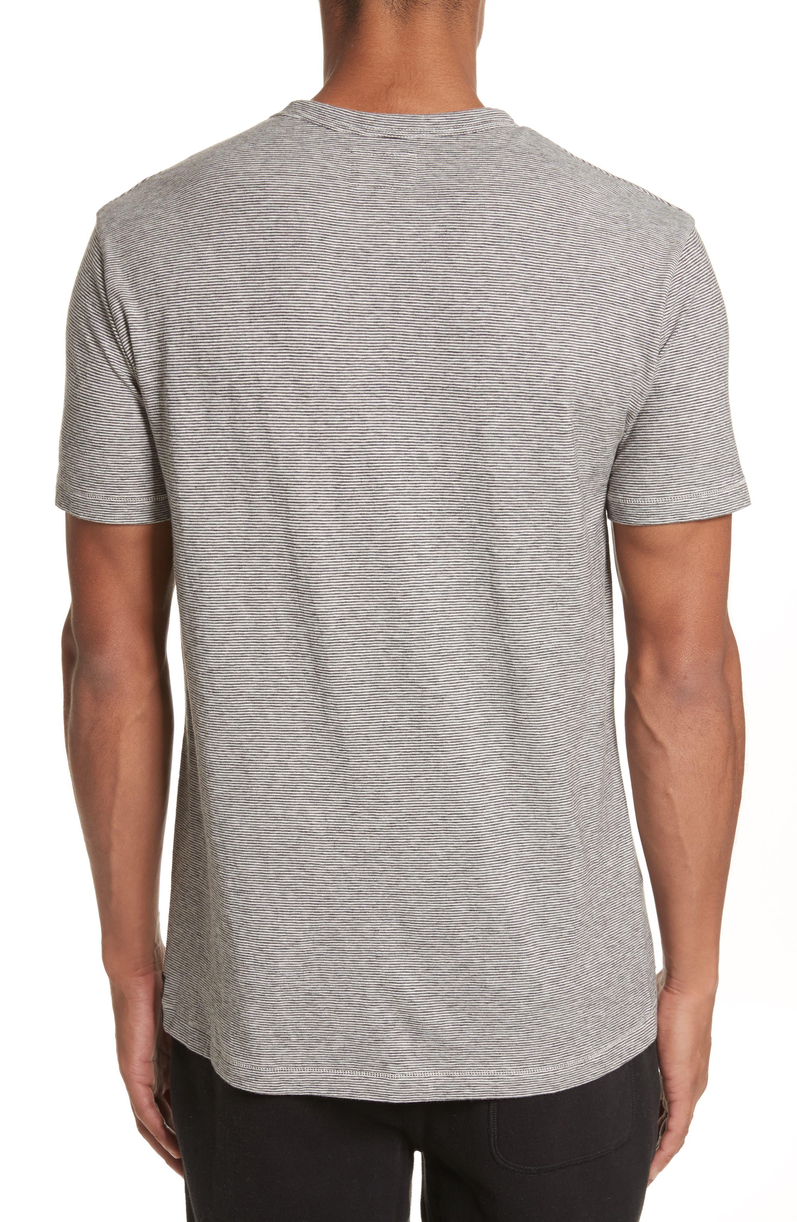 Microstripe Pocket T-Shirt,                             Alternate thumbnail 2, color,                             Ivory