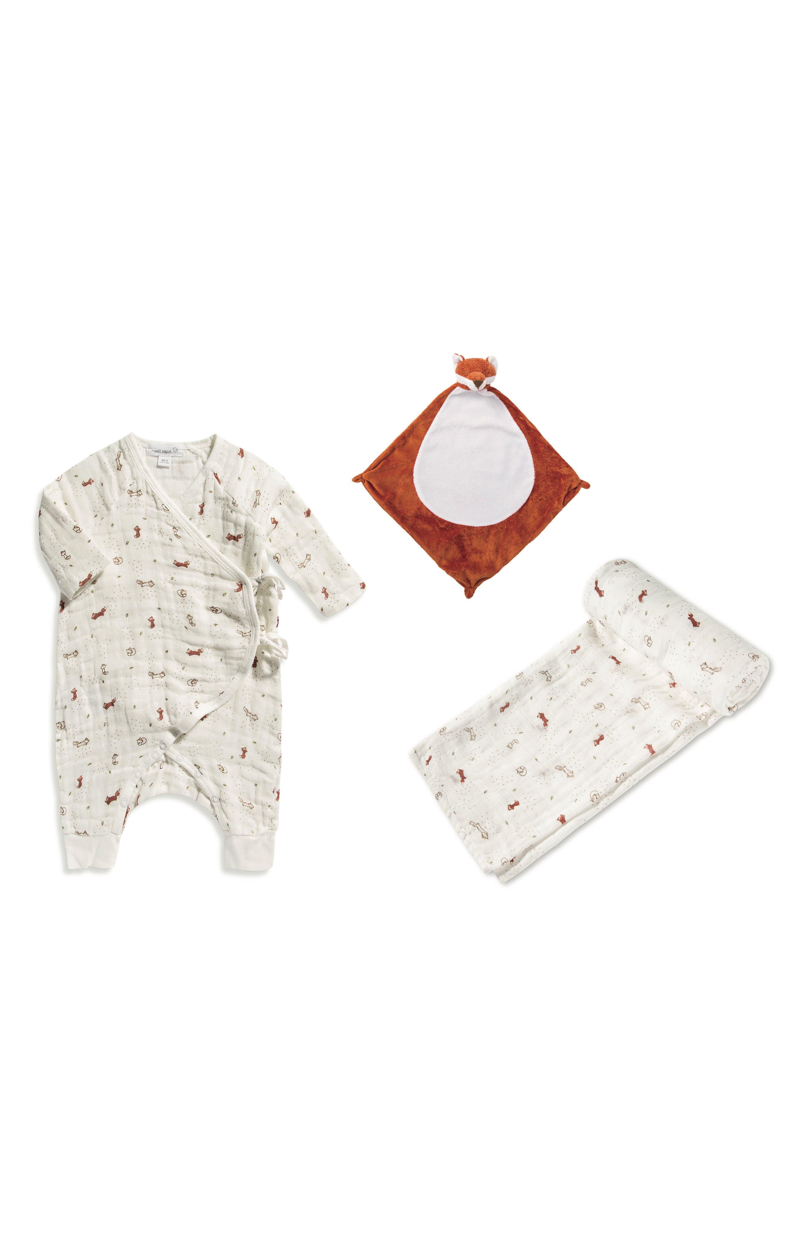 Main Image - Angel Dear Romper, Blankie & Blanket Set (Baby)
