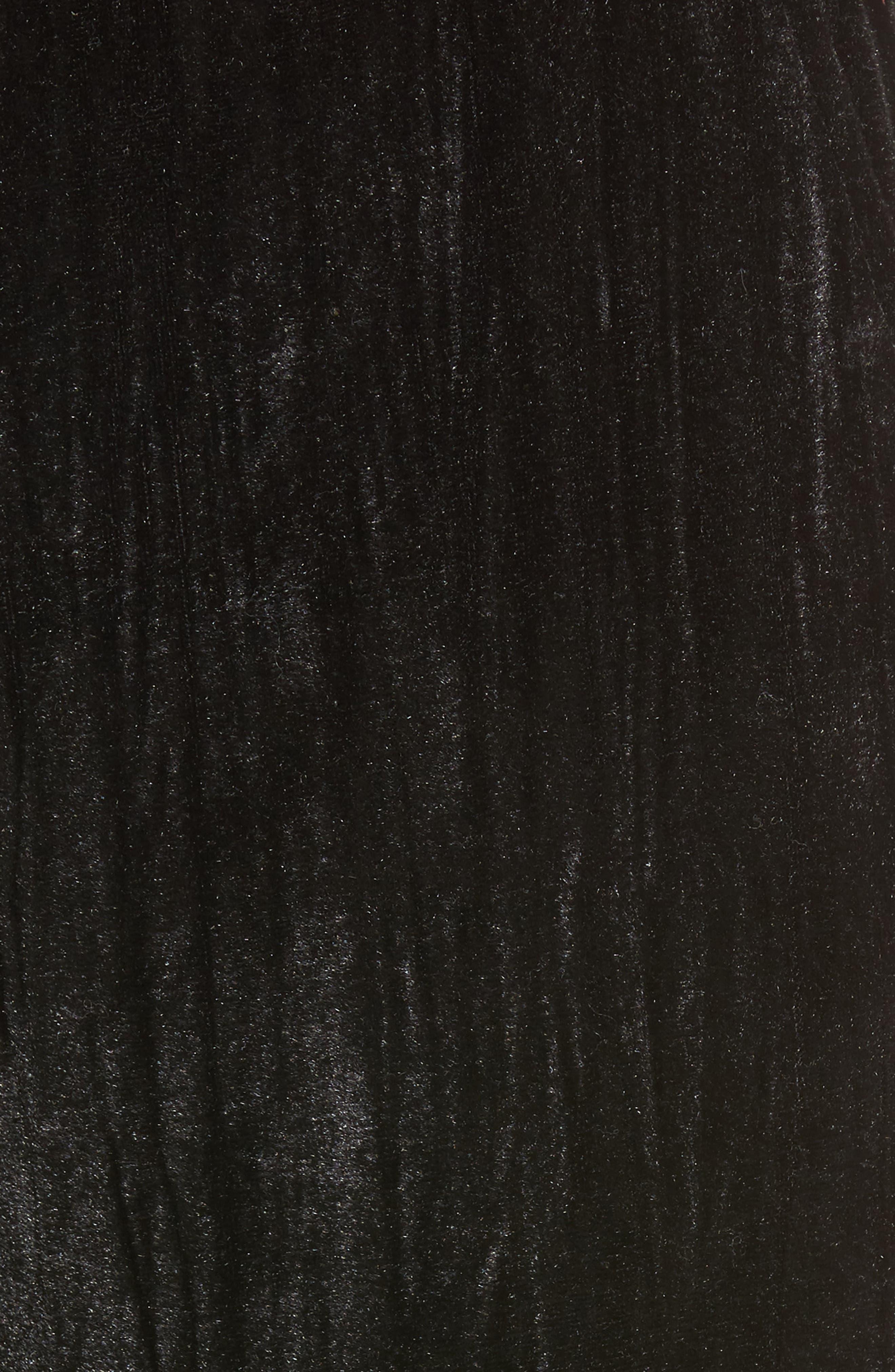 Velvet Culottes,                             Alternate thumbnail 5, color,                             Black