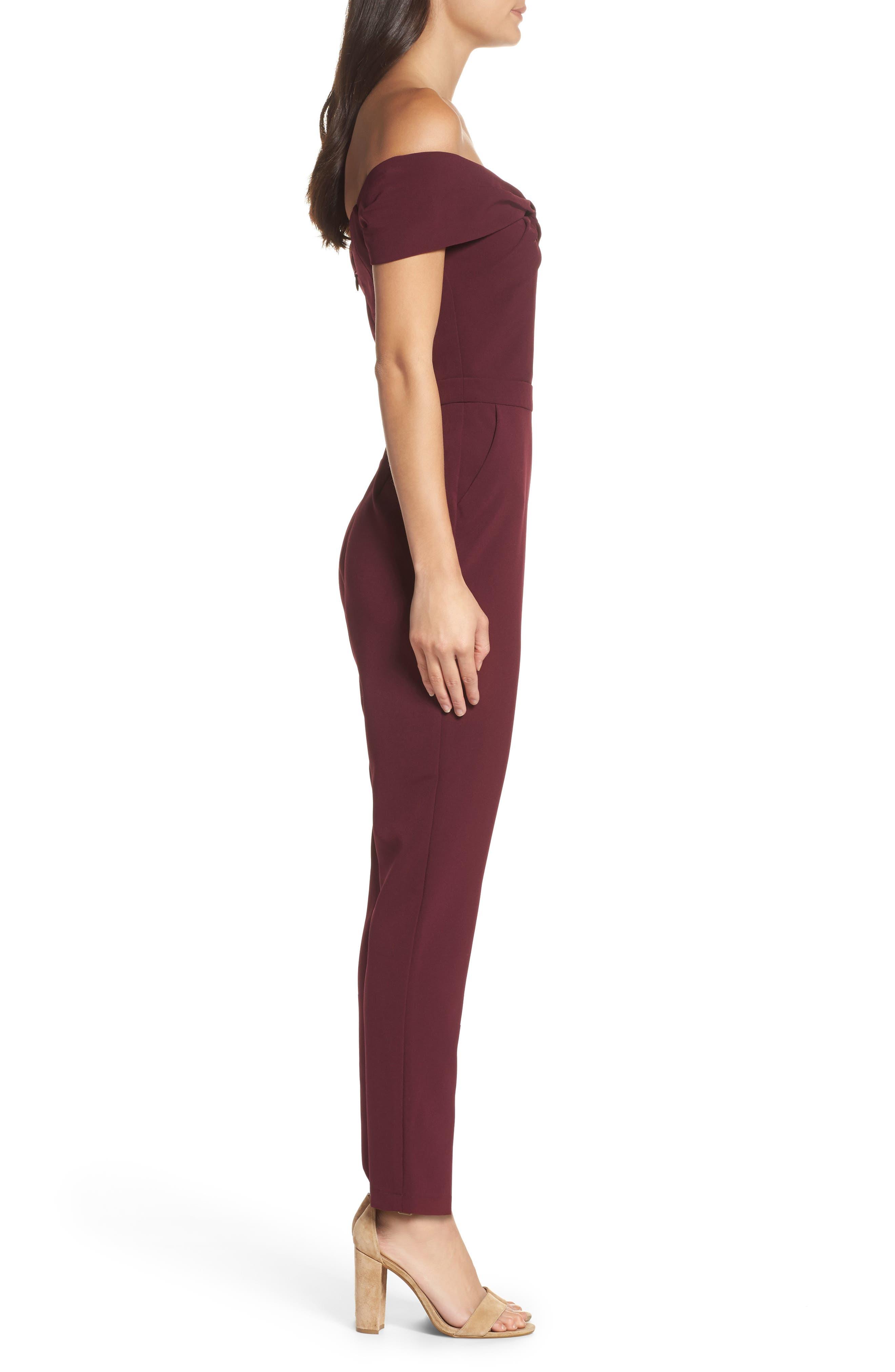 Alternate Image 3  - Adelyn Rae Karlie Off the Shoulder Jumpsuit