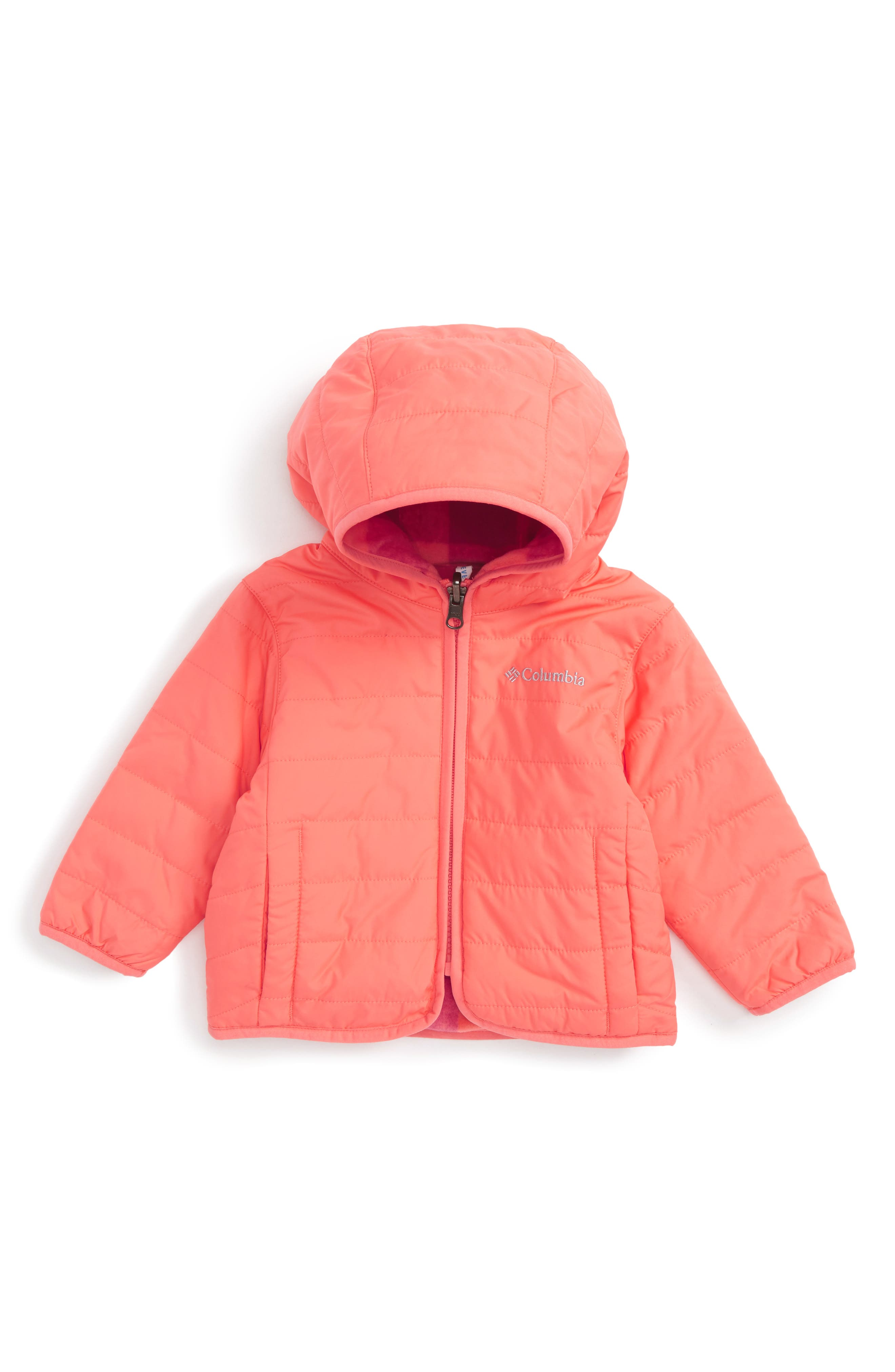 Columbia Double Trouble™ Reversible Water-Resistant Hooded Jacket (Baby Girls)