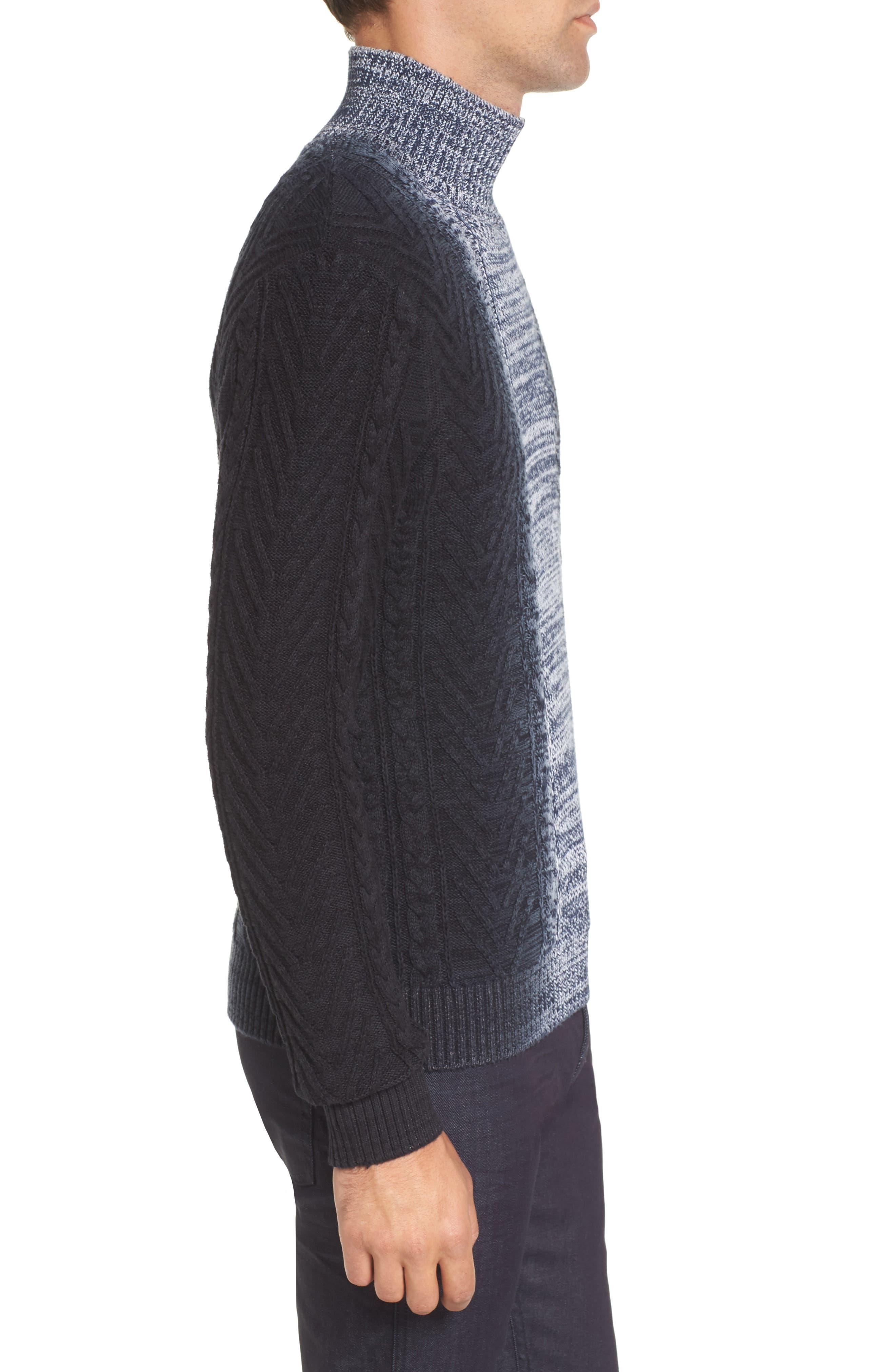 Alternate Image 3  - Vince Camuto Gradient Fade Turtleneck Sweater