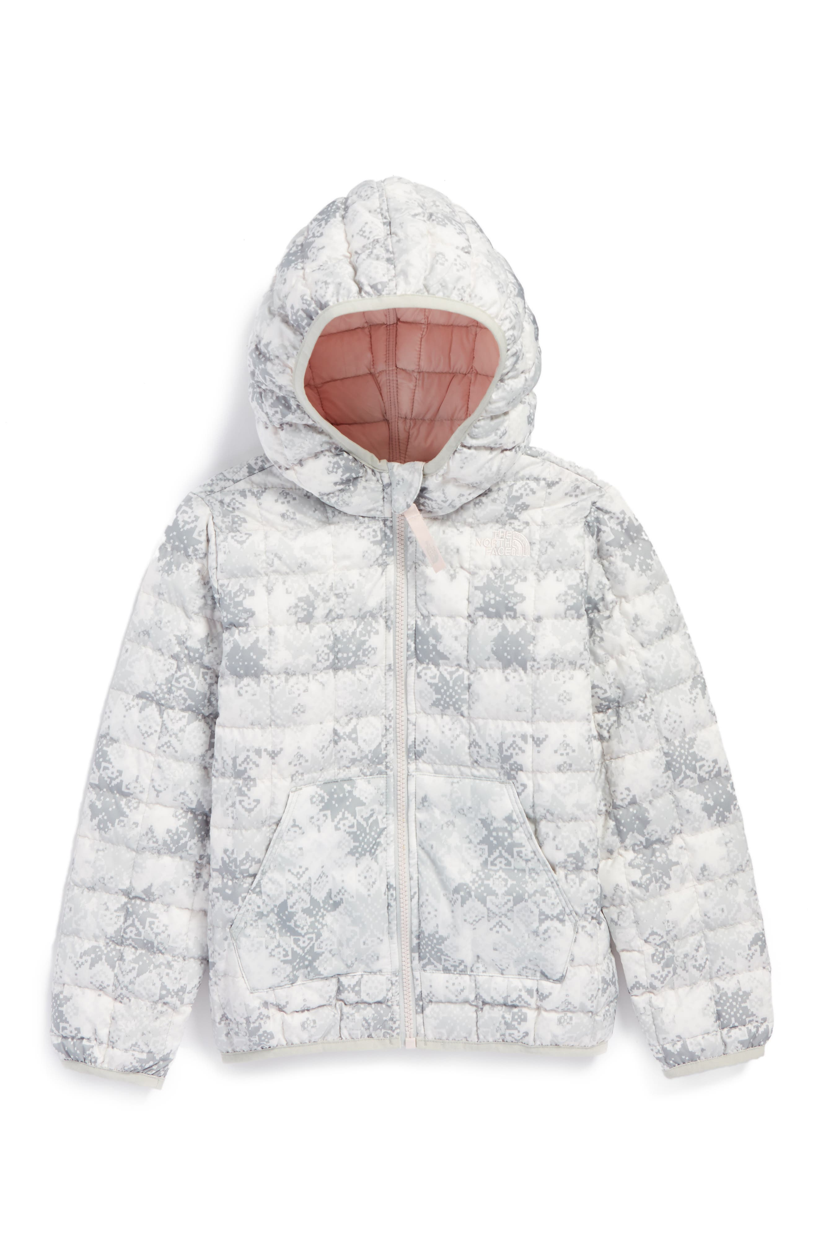 ThermoBall<sup>™</sup> PrimaLoft<sup>®</sup> Hooded Jacket,                         Main,                         color, Tnf Snowflake Fair Isle Print