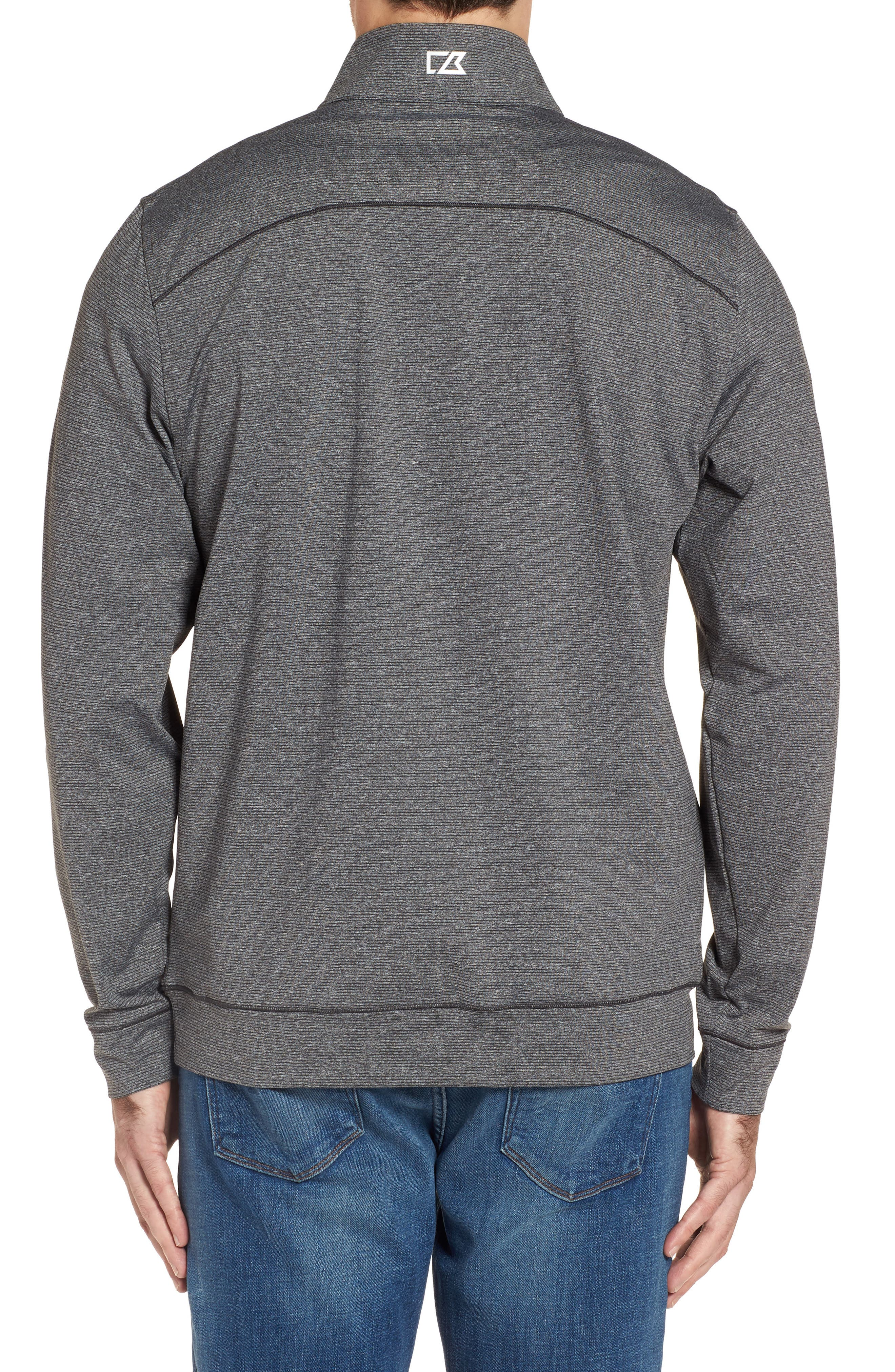 Shoreline - Pittsburgh Steelers Half Zip Pullover,                             Alternate thumbnail 2, color,                             Charcoal Heather