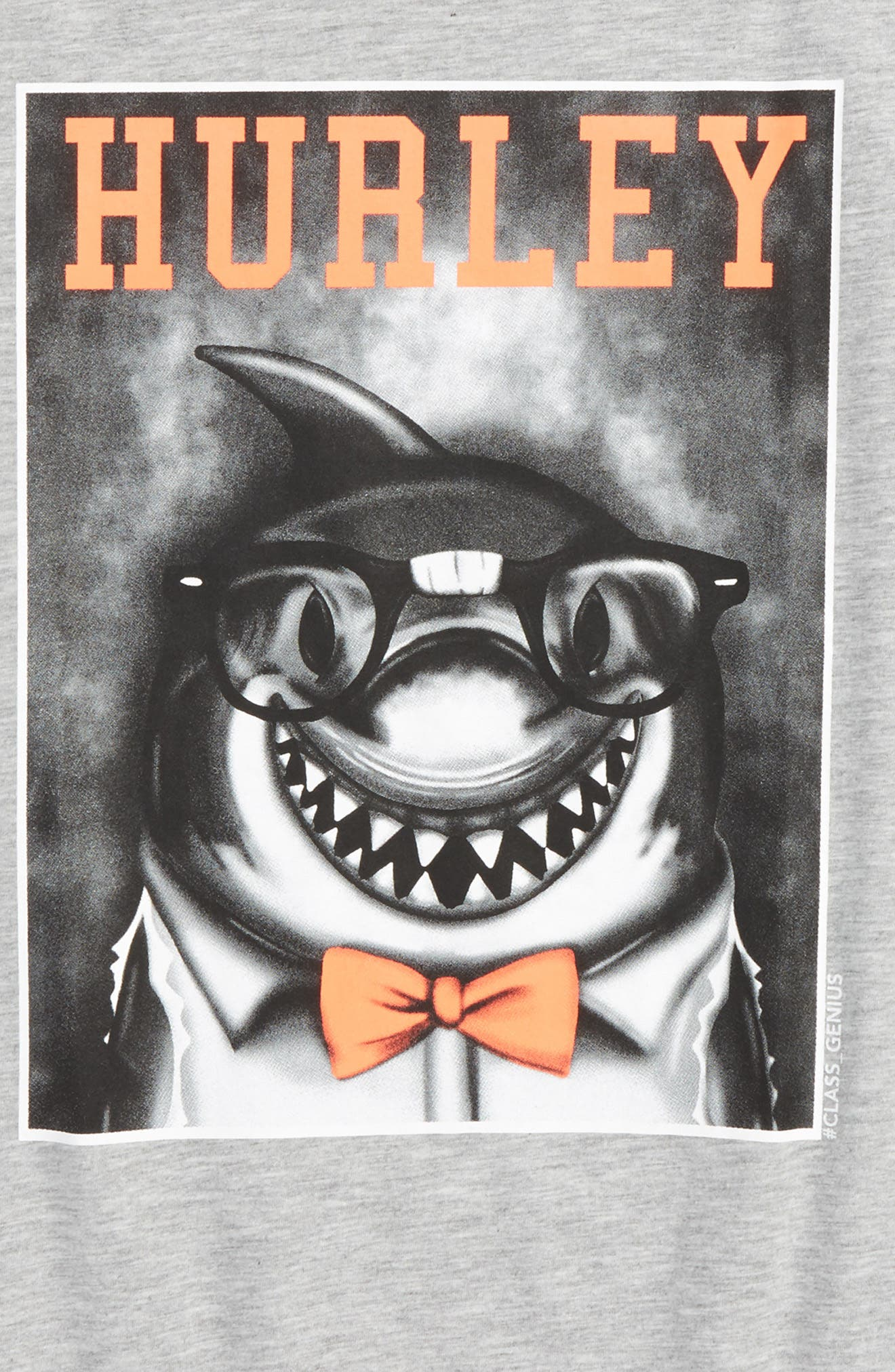 Alternate Image 2  - Hurley Most Intellectual Shark Graphic T-Shirt (Big Boys)