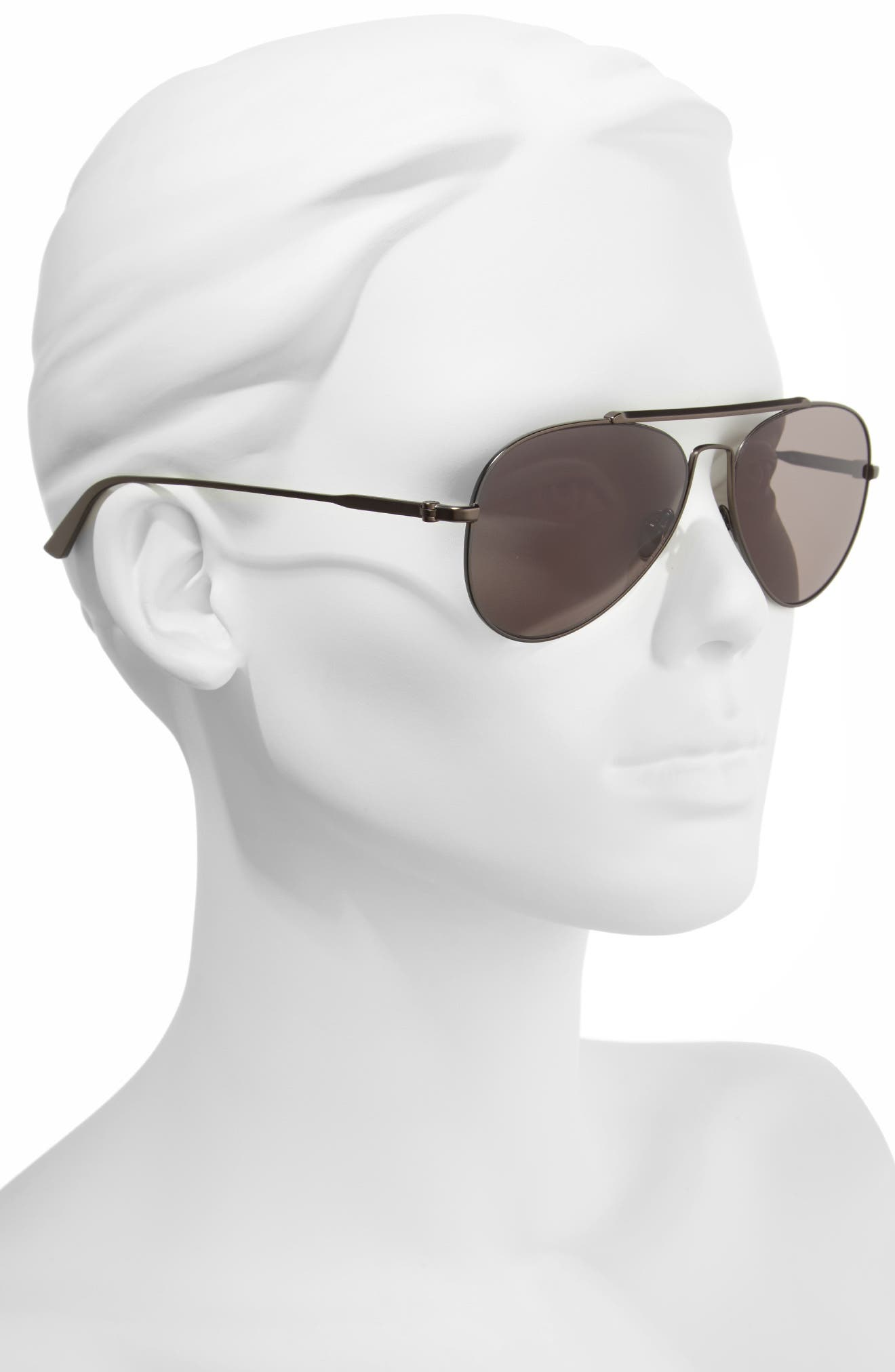 58mm Aviator Sunglasses,                             Alternate thumbnail 2, color,                             Satin Titanium