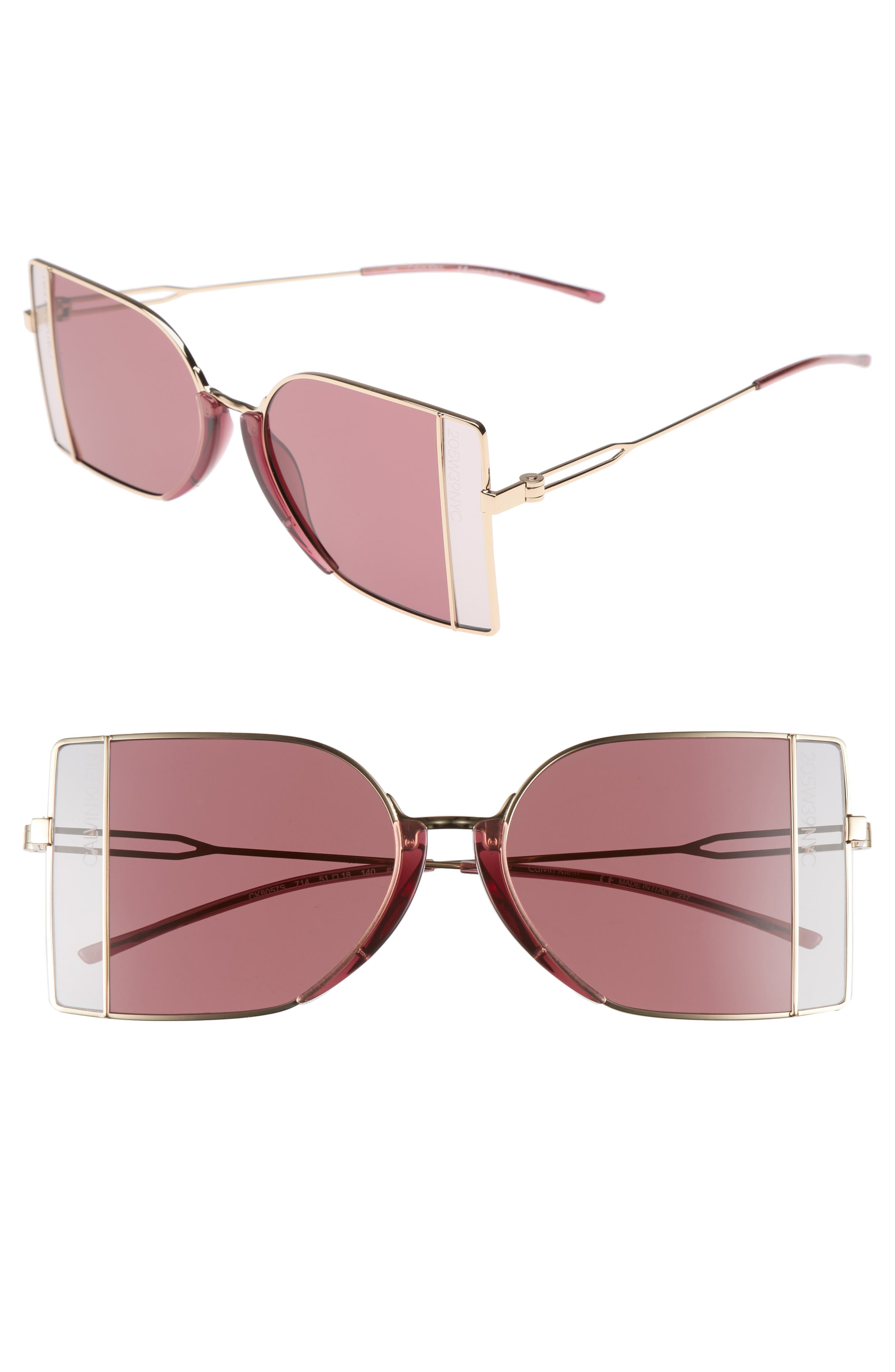 Alternate Image 1 Selected - CALVIN KLEIN 205W39NYC 51mm Butterfly Sunglasses