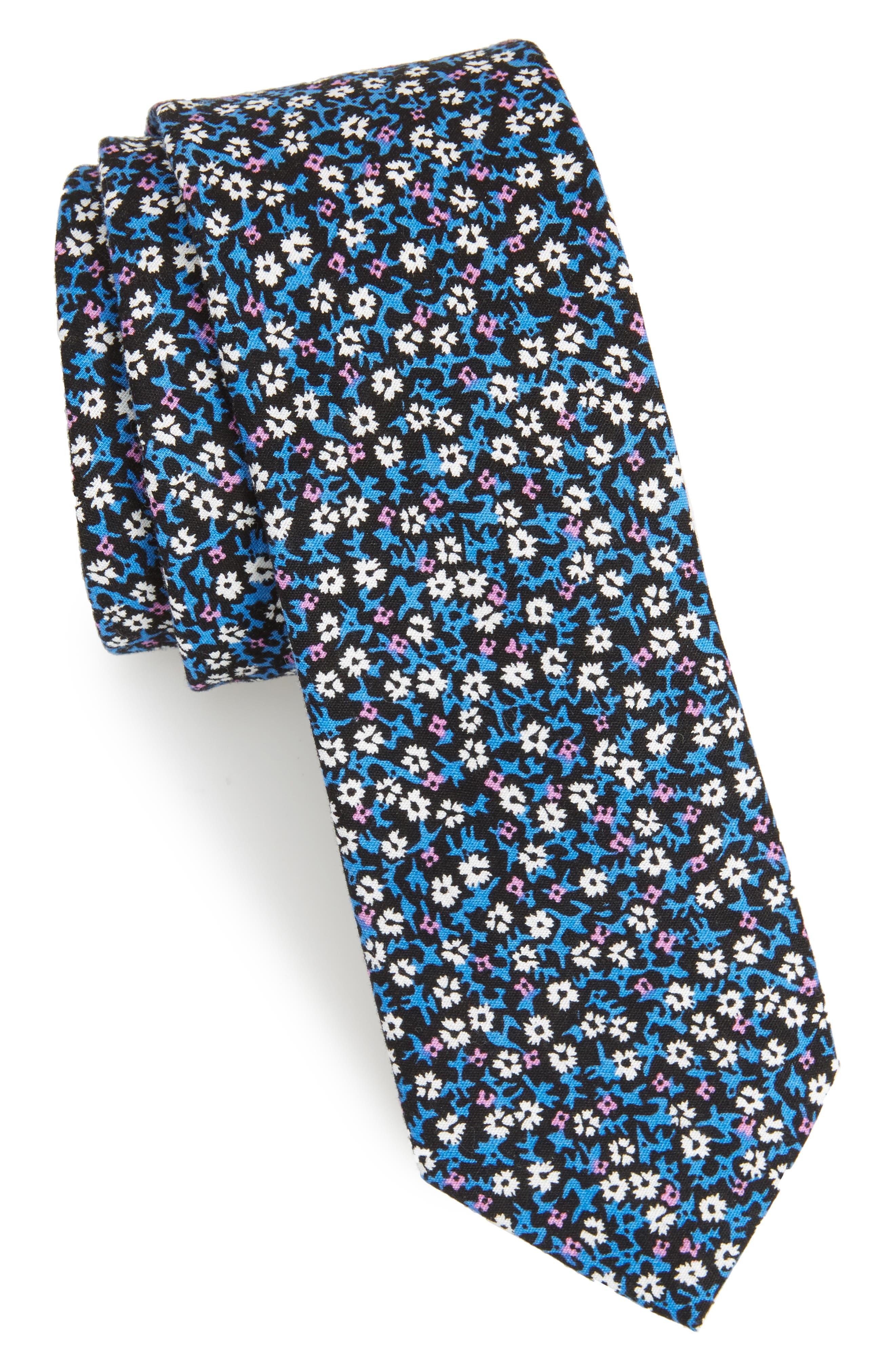 1901 Manor Floral Cotton Tie