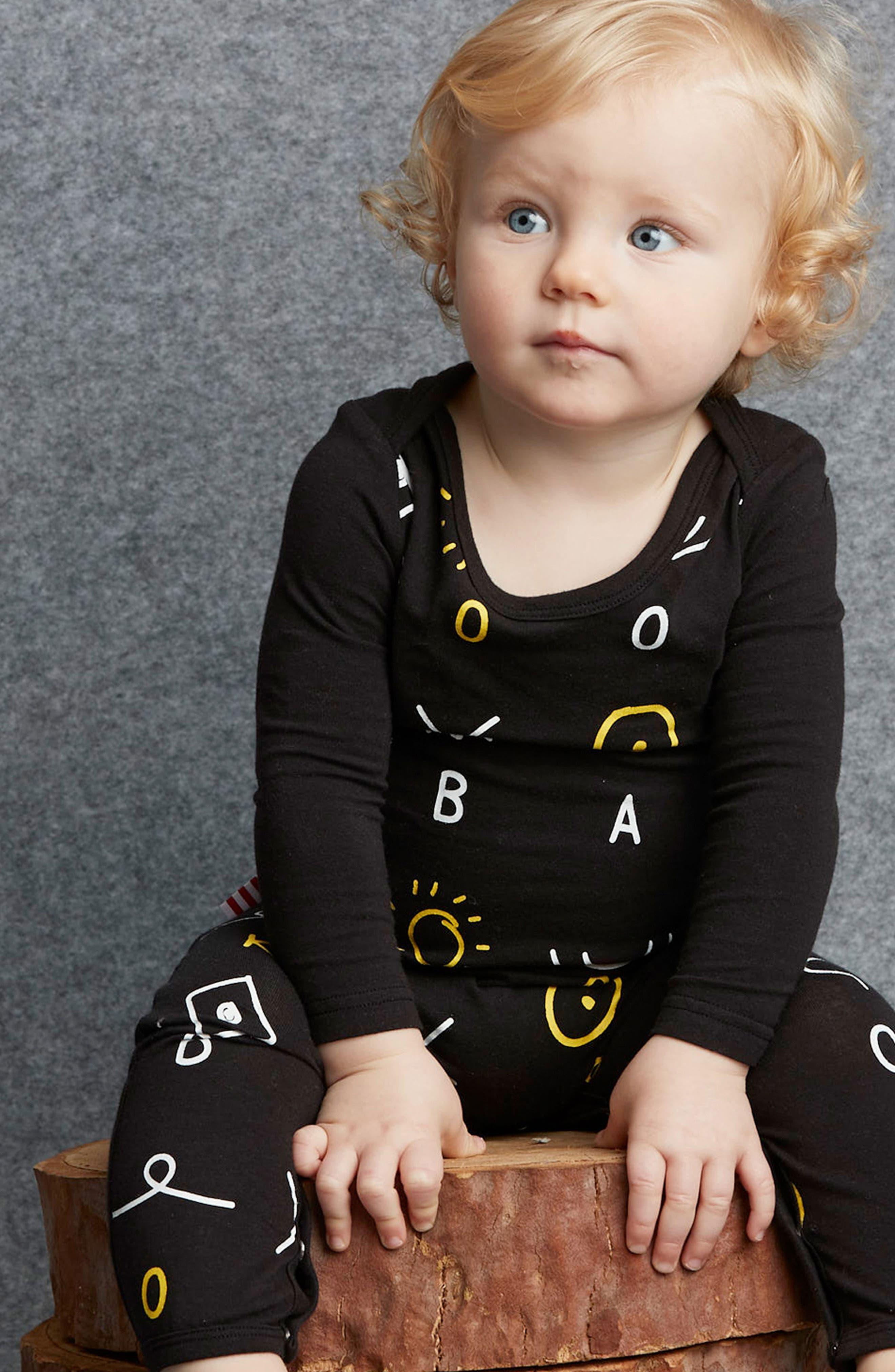Alternate Image 2  - SOOKIbaby Print Romper (Baby)
