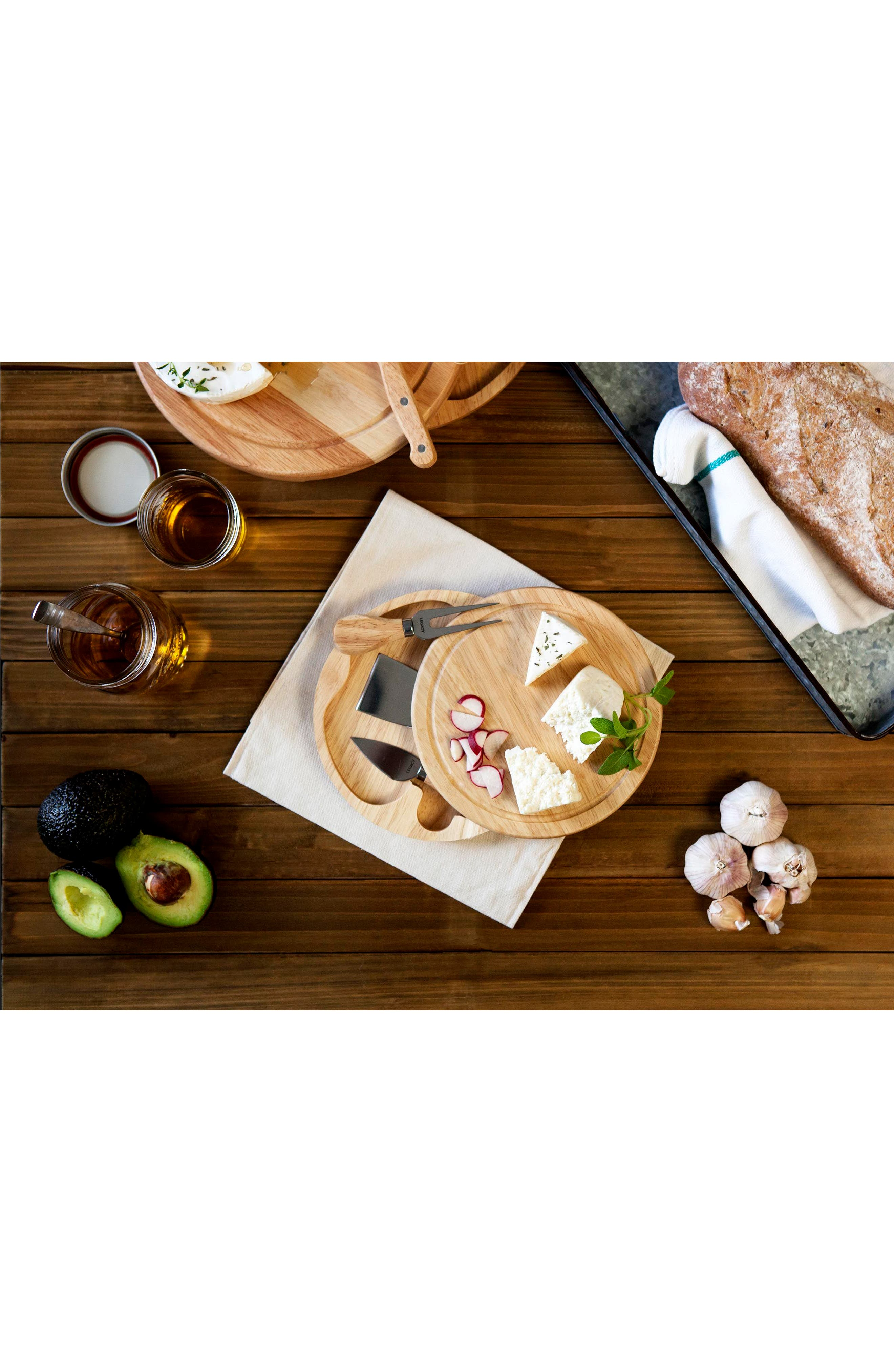 Alternate Image 3  - Picnic Time Rubberwood Cheese Board & Tools Set