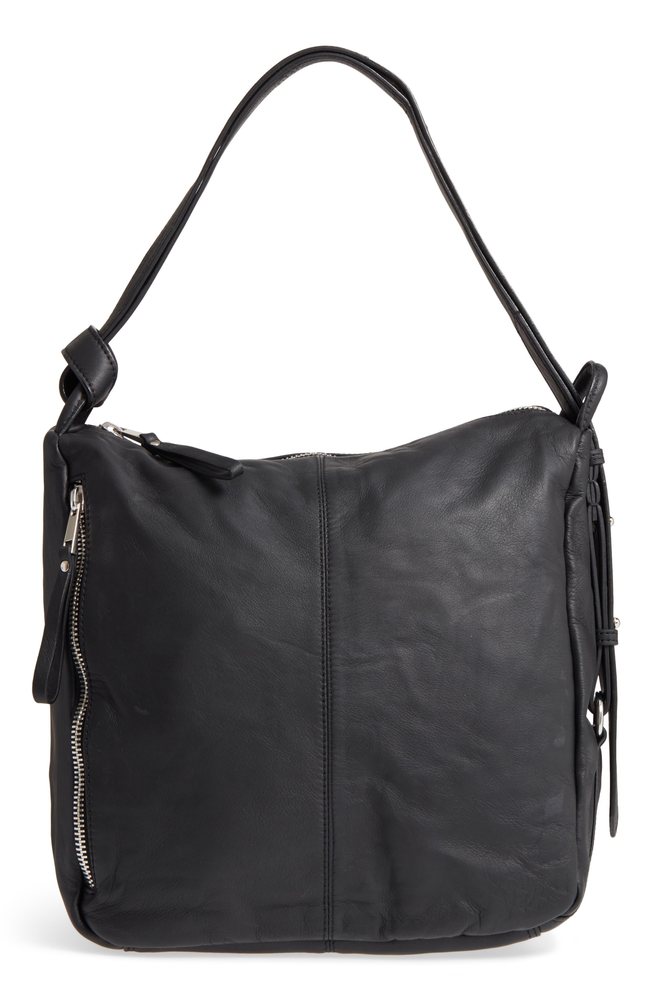 Alternate Image 1 Selected - Topshop Premium Leather Sling Shoulder Bag
