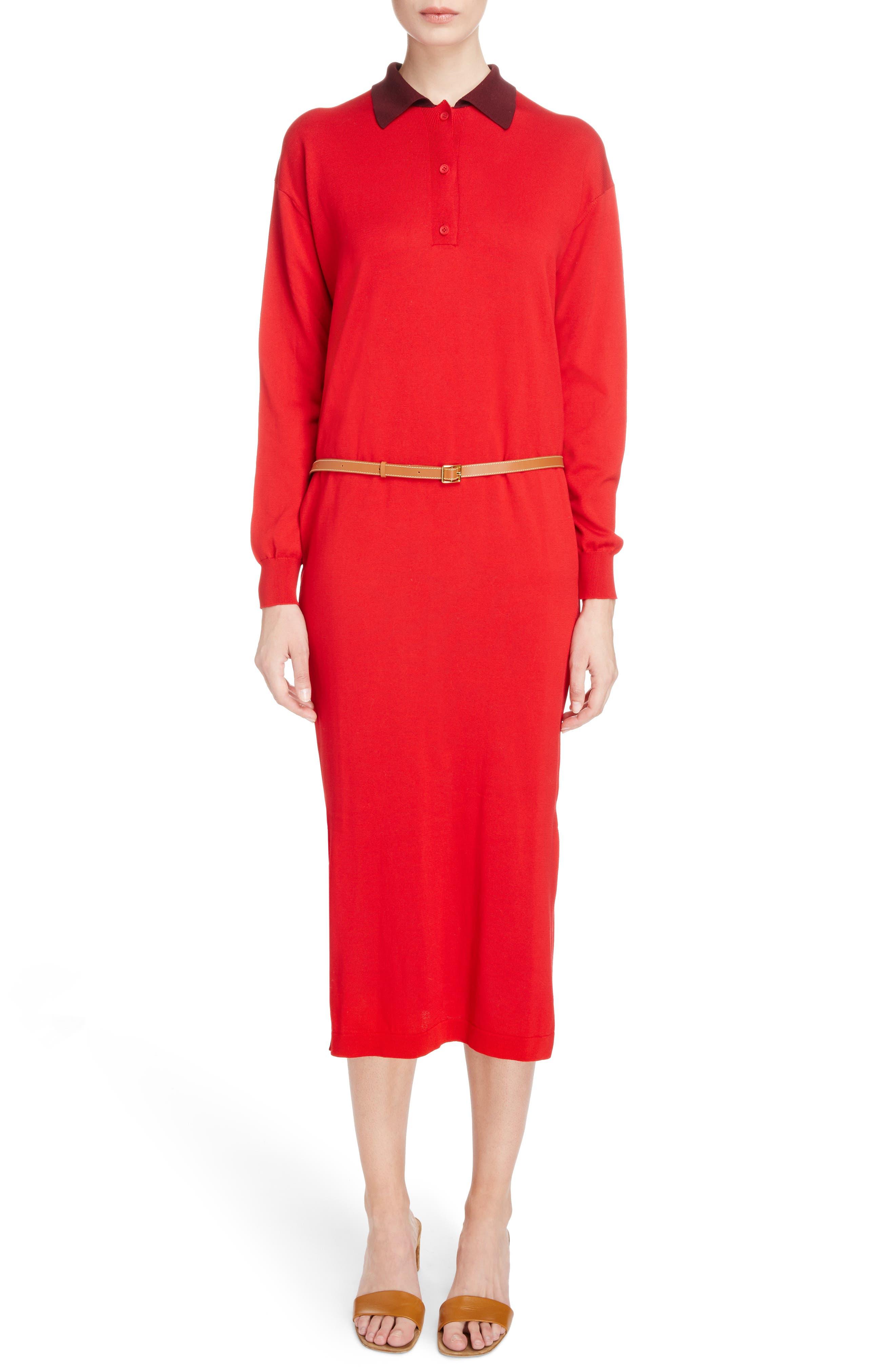 Main Image - Loewe Belted Polo Dress