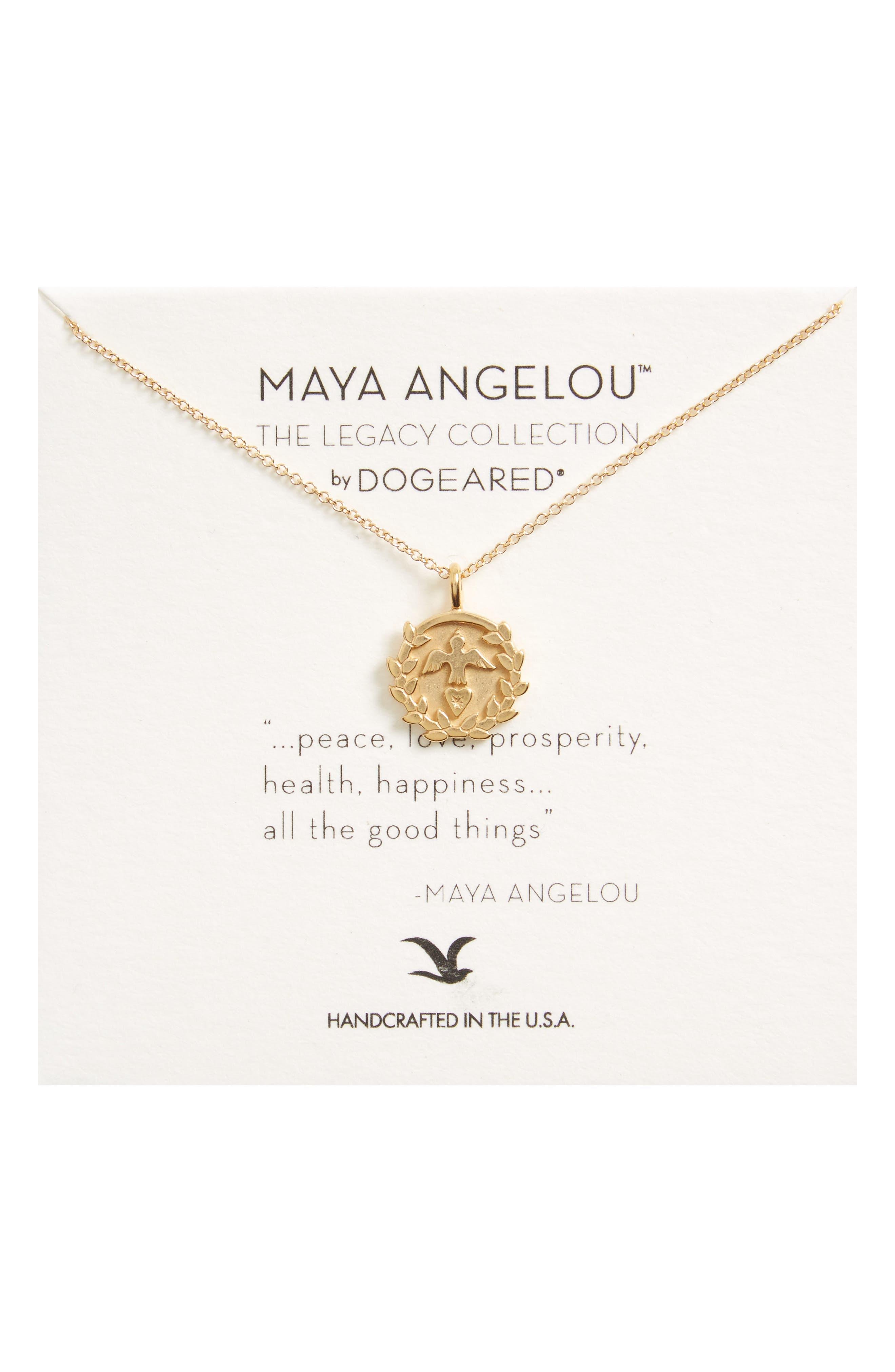 Main Image - Dogeared Legacy - Peace Love Prosperity Multi-Icon Pendant Necklace