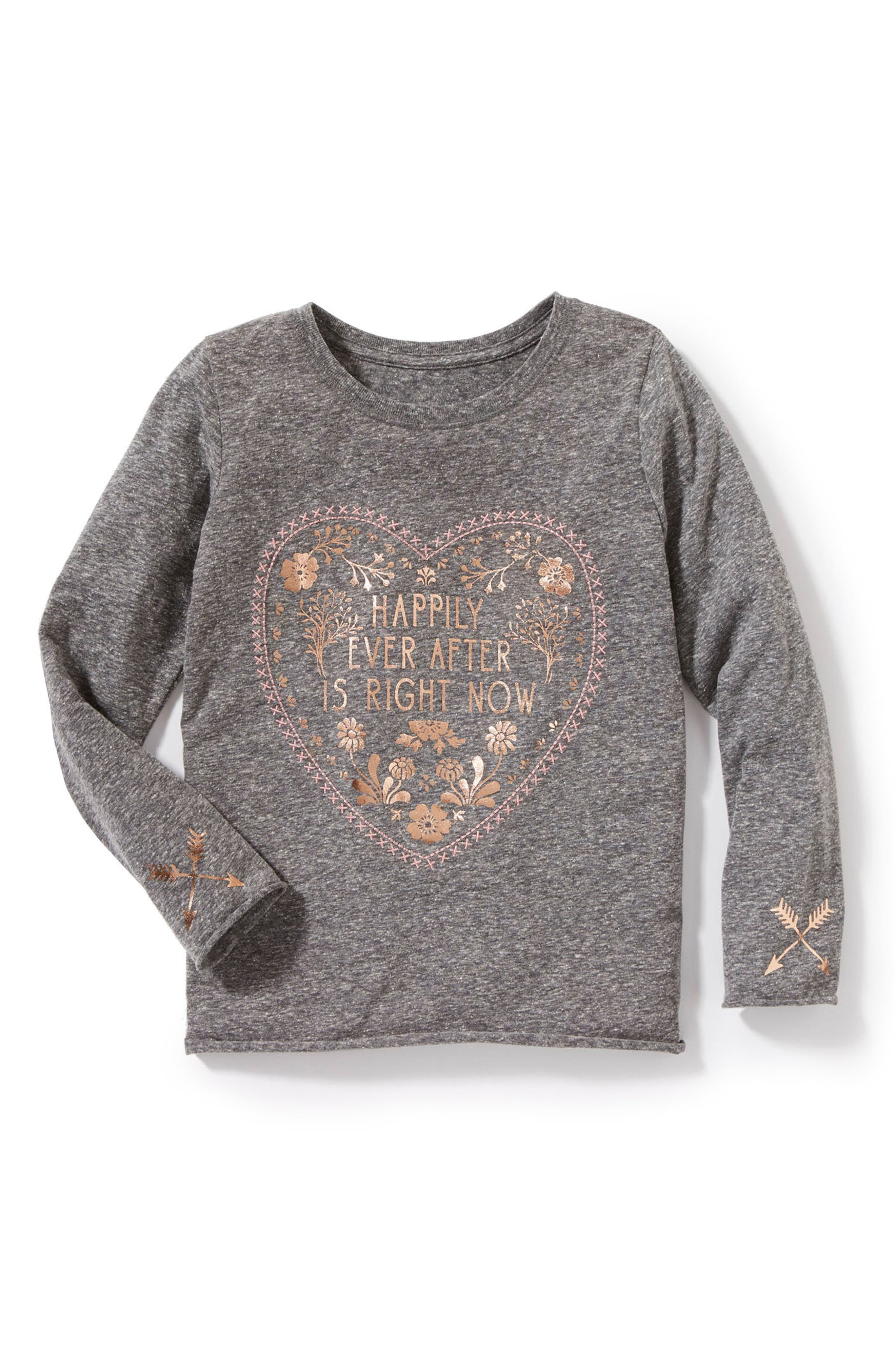 Happliy Ever After Graphic Tee,                         Main,                         color, Grey Heather