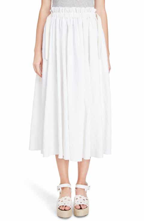 Loewe Drawstring Waist Broderie Anglaise Skirt
