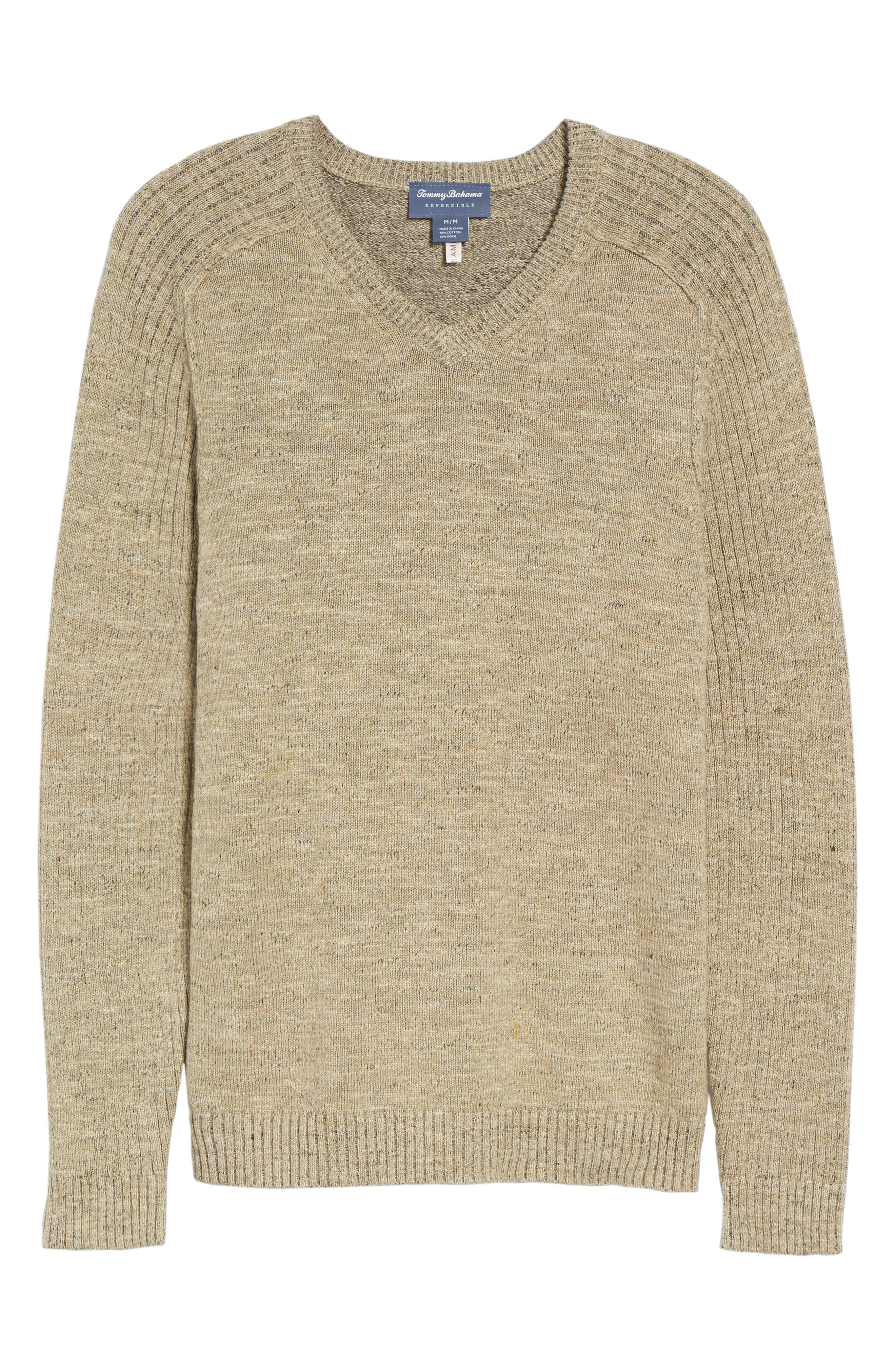 Alternate Image 5  - Tommy Bahama Gran Rey Flip Reversible Cotton & Wool Sweater