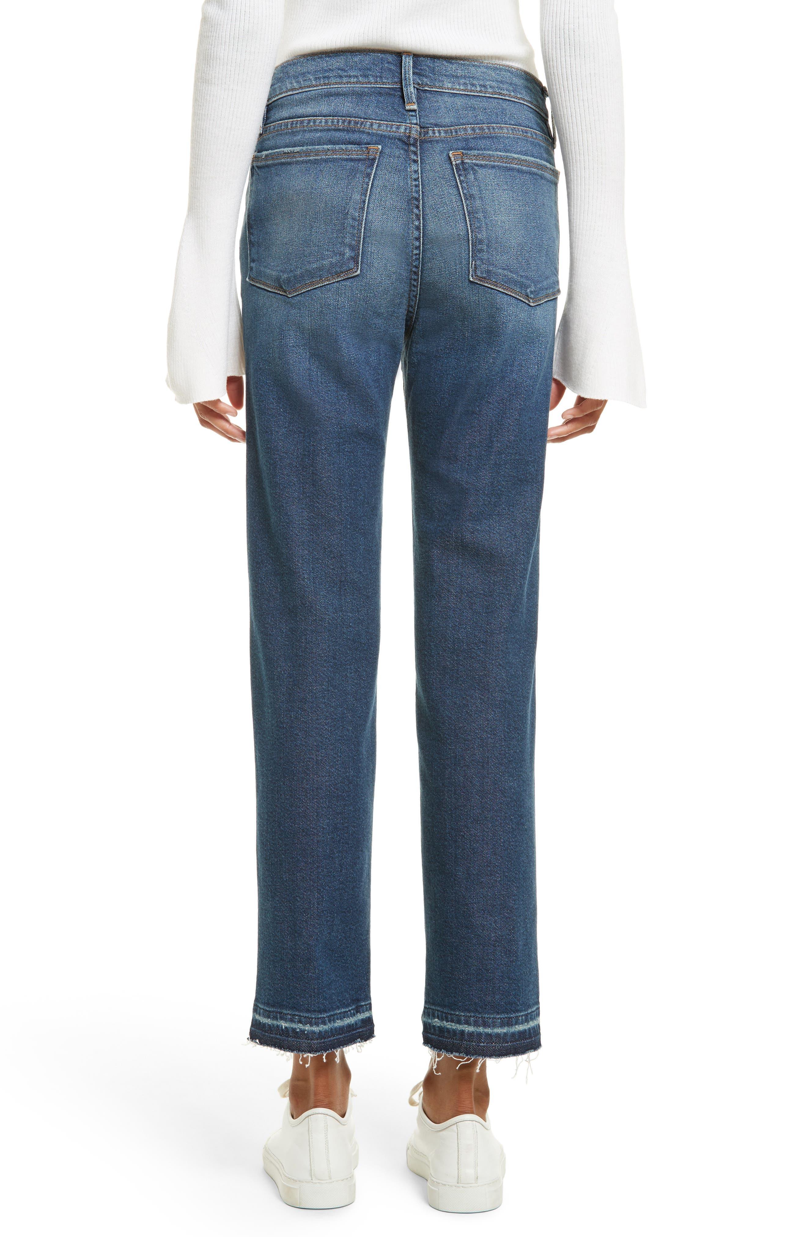 Alternate Image 3  - FRAME High Waist Released Hem Crop Jeans (Granby)
