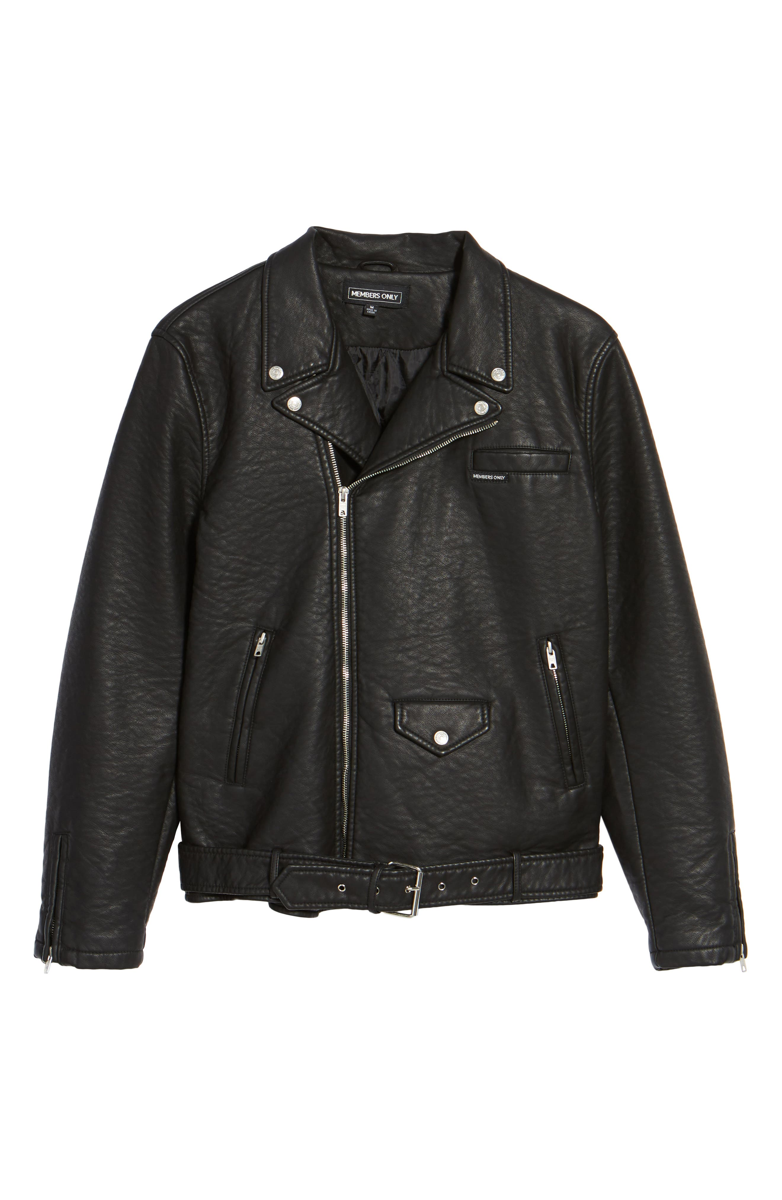 Alternate Image 6  - Members Only Faux Leather Moto Jacket