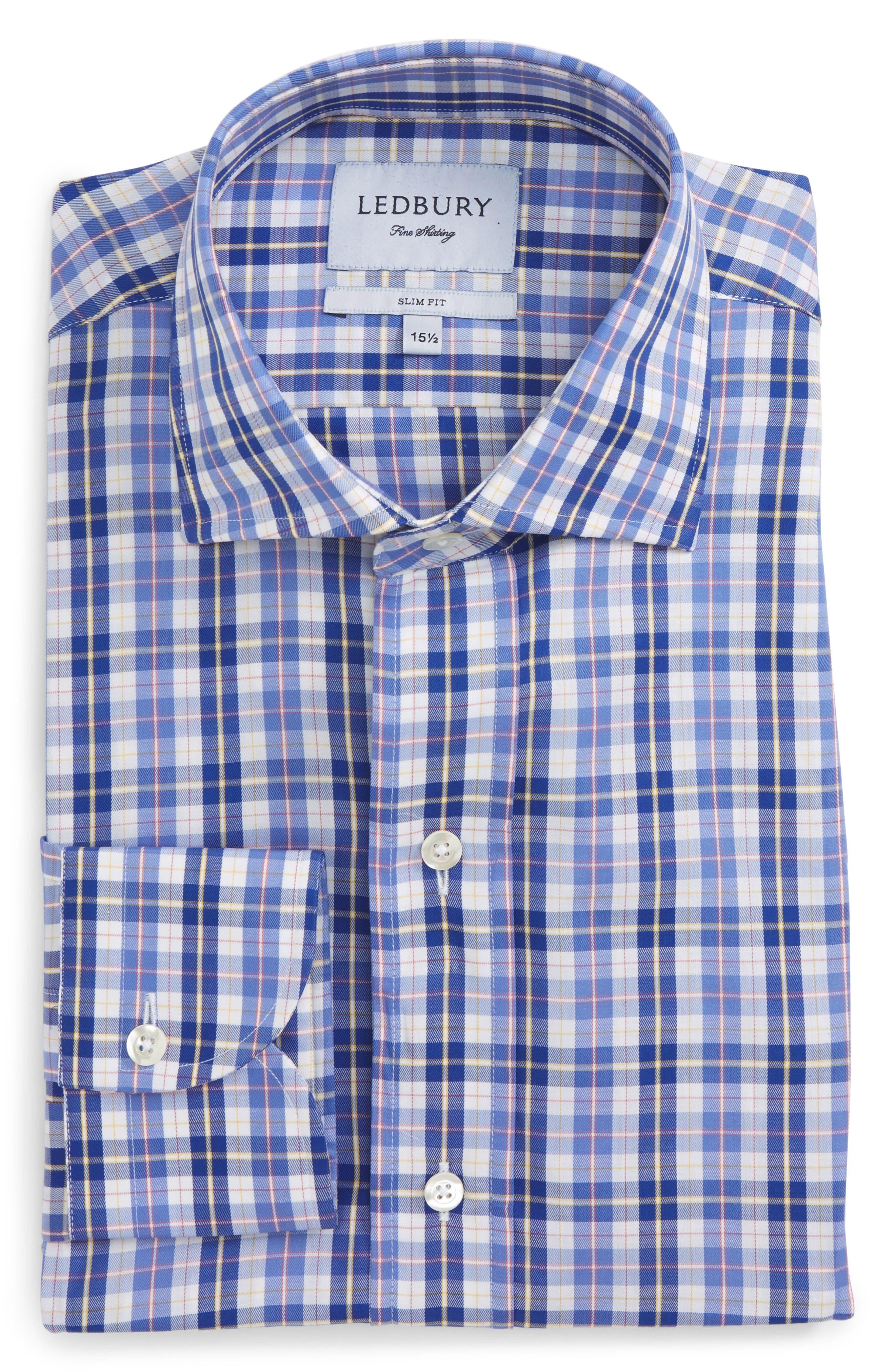 Alternate Image 1 Selected - Ledbury Slim Fit Check Dress Shirt