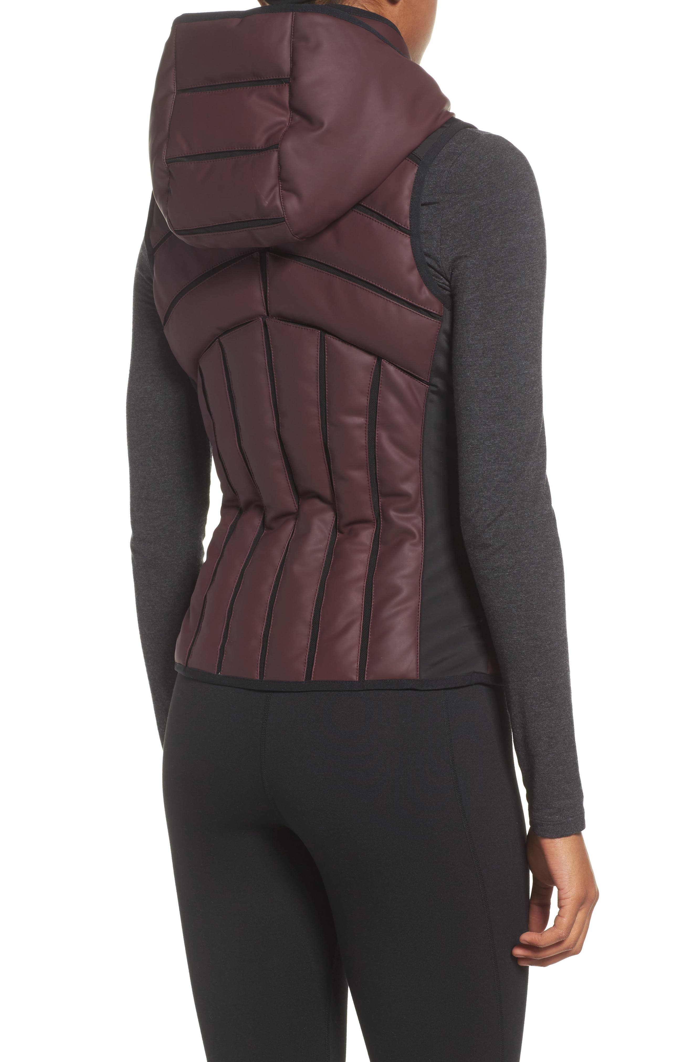 Aura Mesh Inset Vest,                             Alternate thumbnail 2, color,                             Nightshade
