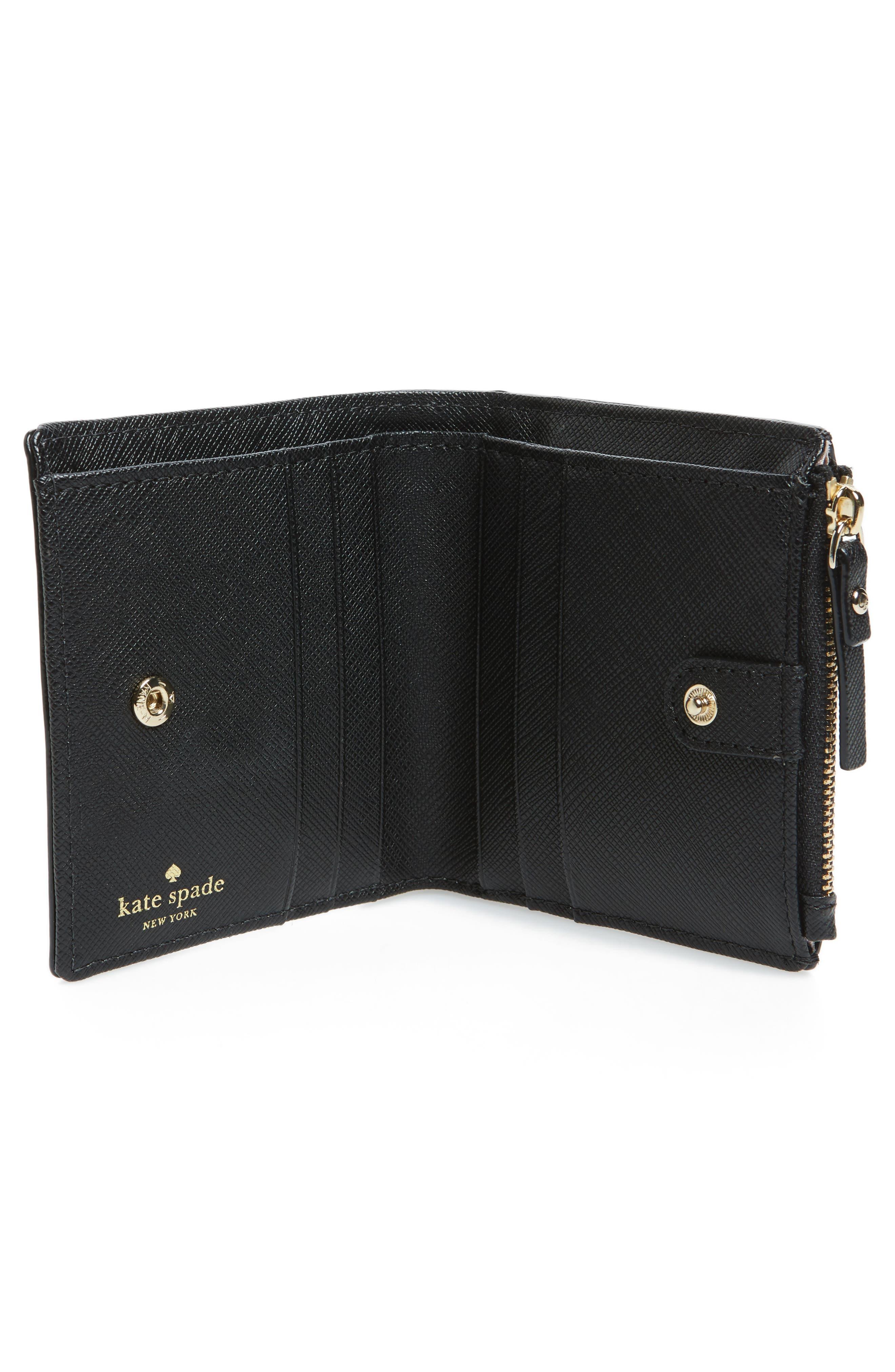 brooks drive - adalyn wallet,                             Alternate thumbnail 2, color,                             Black/ Cream