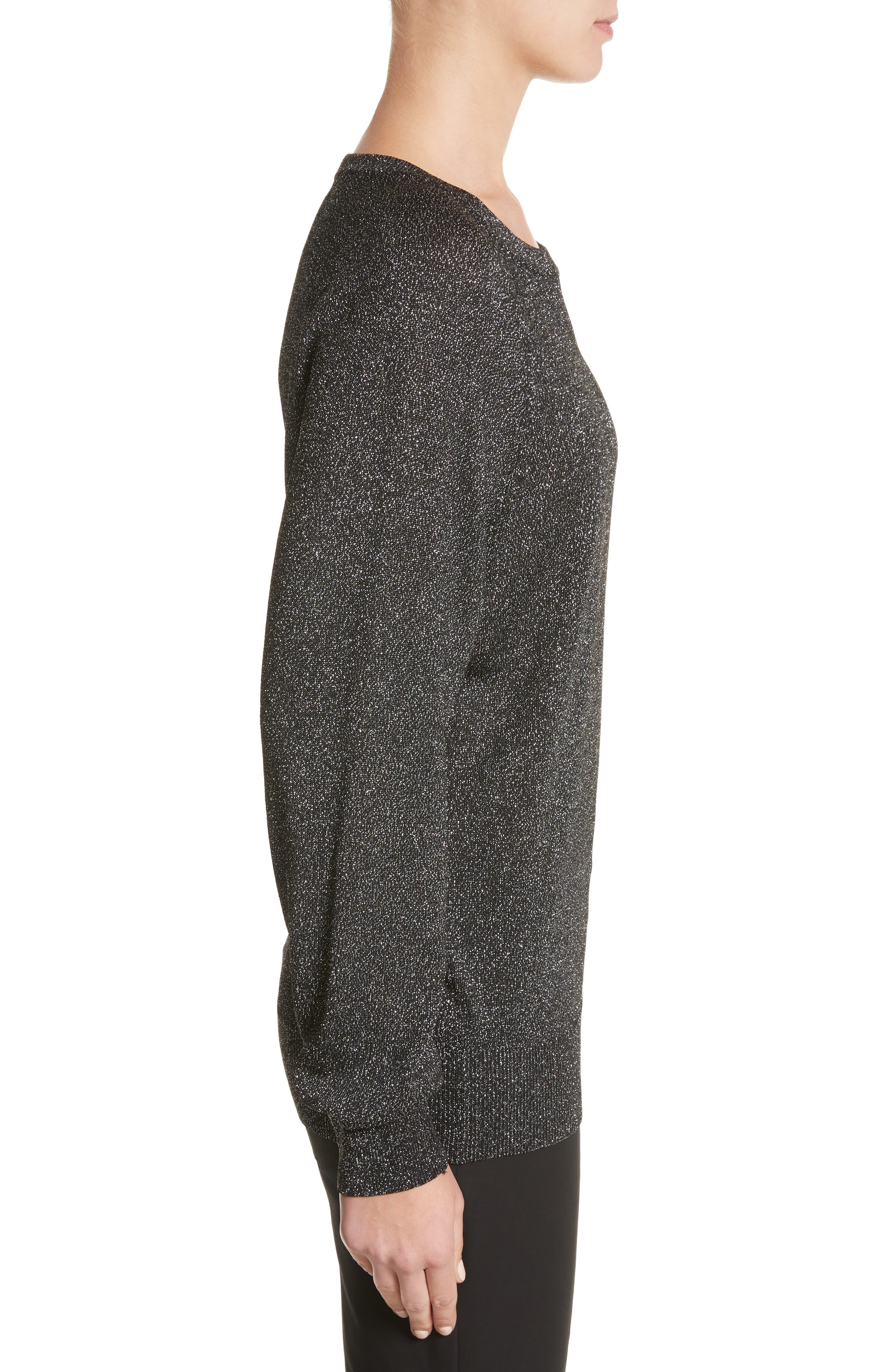 Alternate Image 3  - Michael Kors Metallic Knit Raglan Pullover