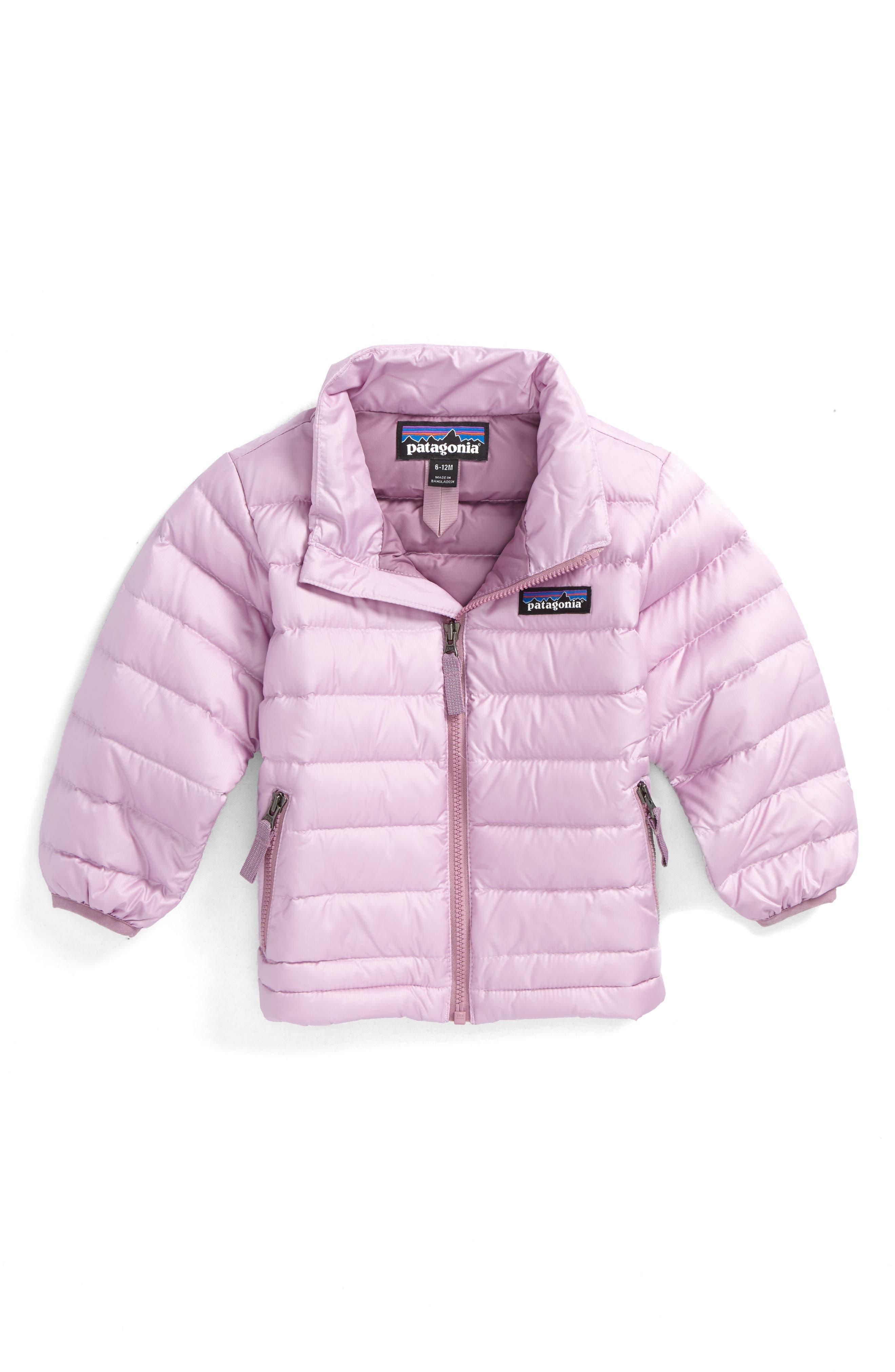 Main Image - Patagonia Down Sweater Jacket (Baby Girls)