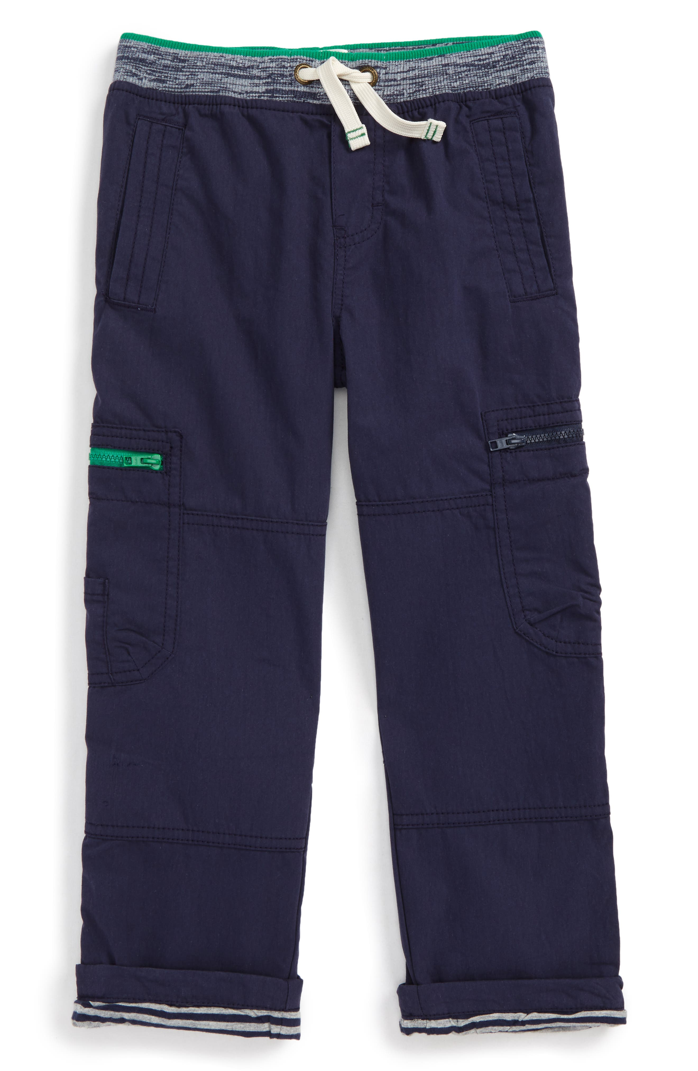 Lined Cargo Pants,                         Main,                         color, Navy