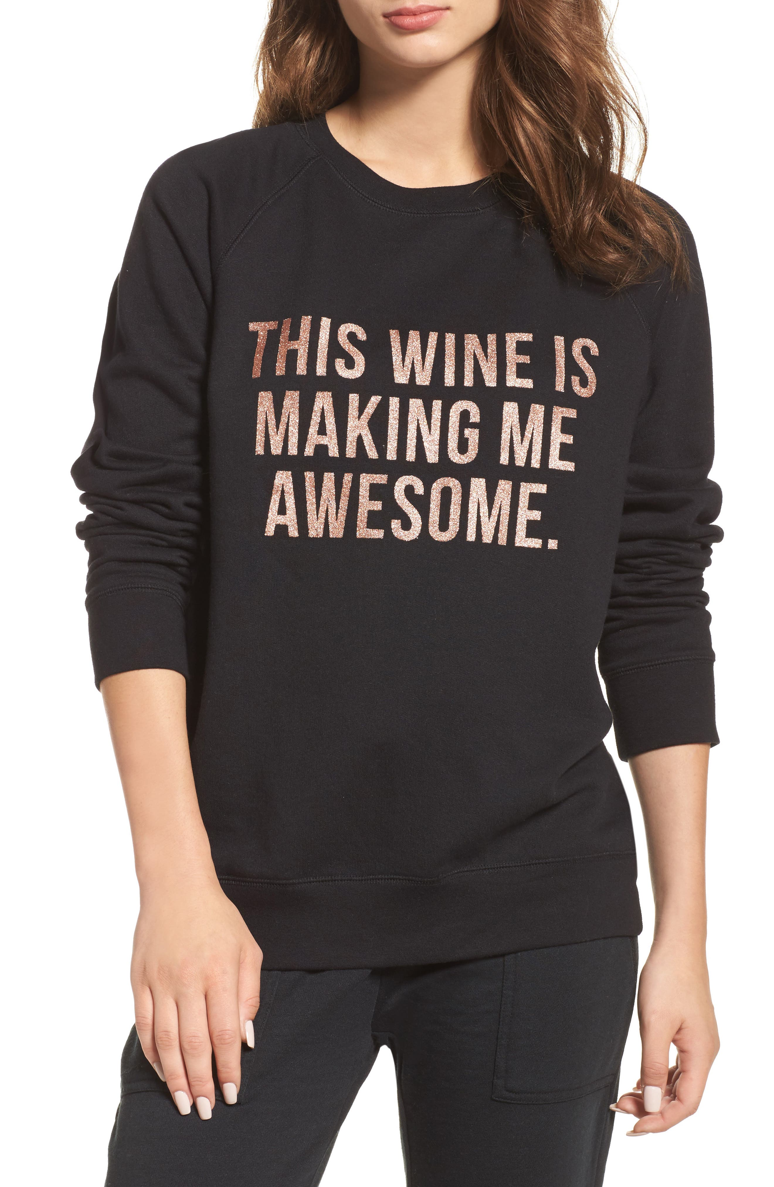 Alternate Image 1 Selected - BRUNETTE the Label This Wine Sweatshirt