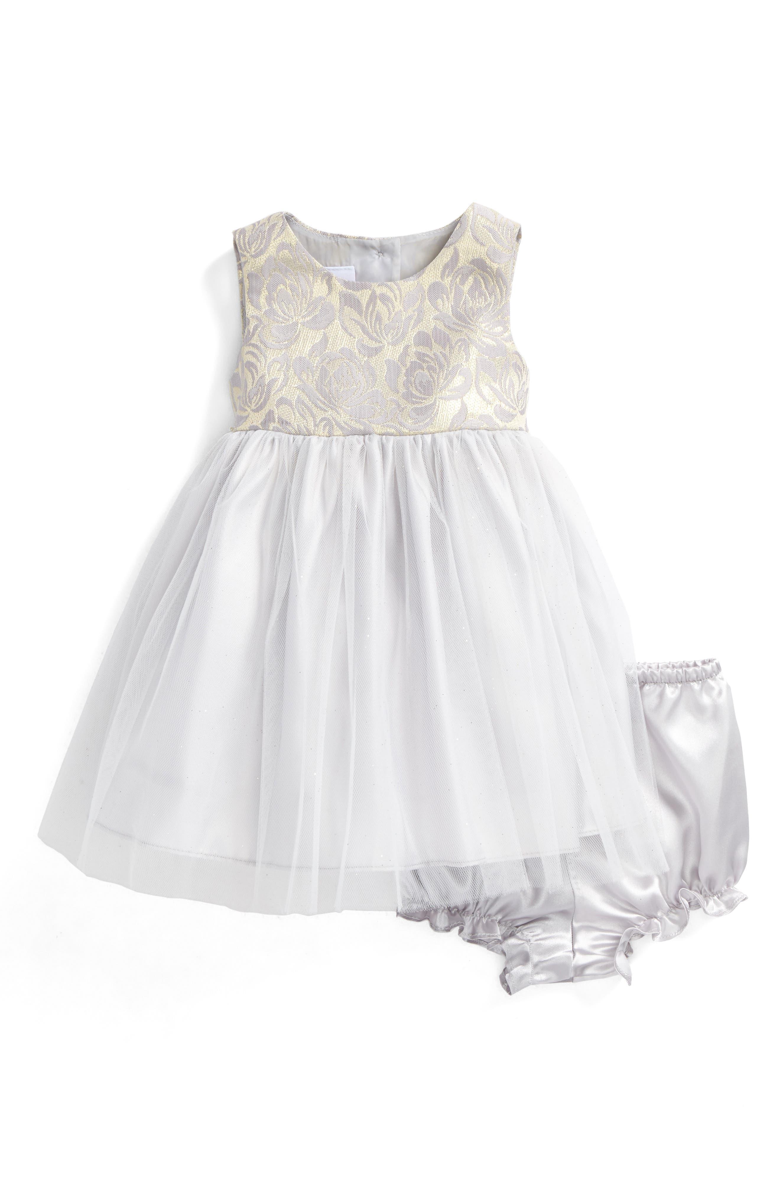Main Image - Frais Sleeveless Tulle Dress (Baby Girls)