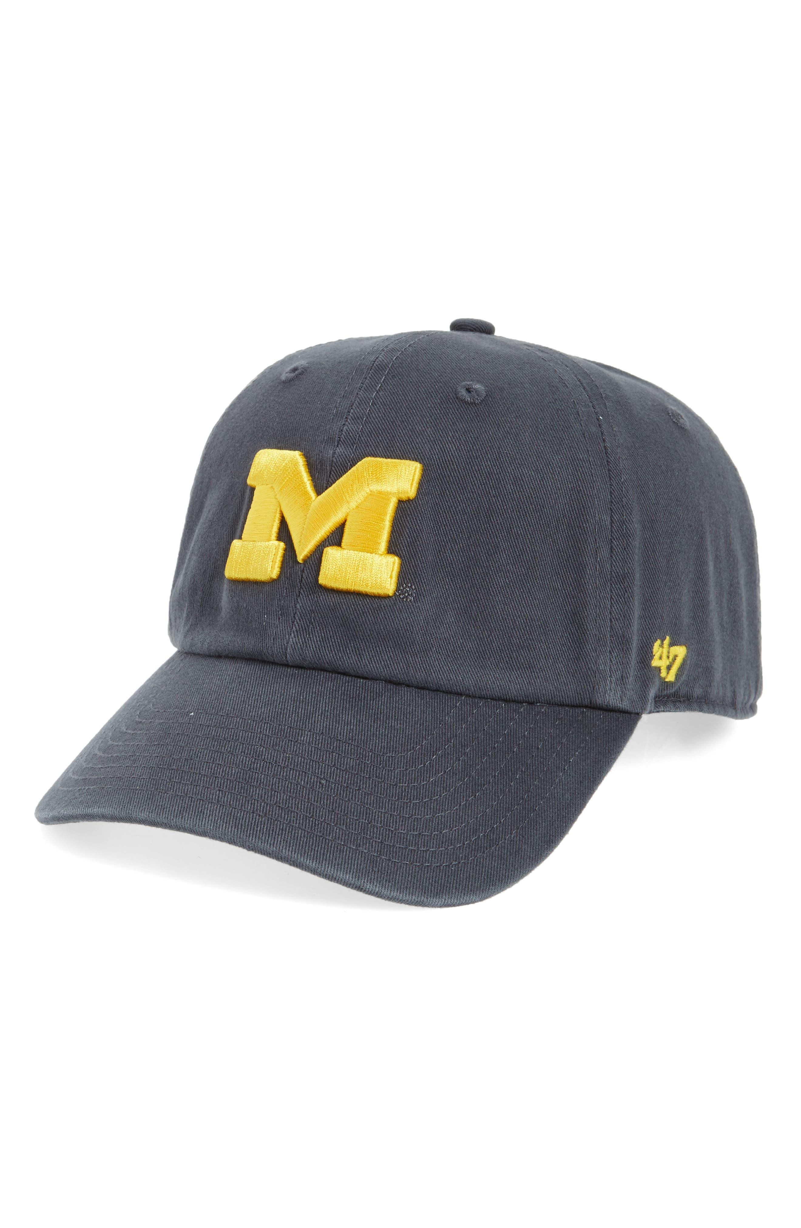 Michigan Wolverines Clean Up Baseball Cap,                             Main thumbnail 1, color,                             Vintage Navy
