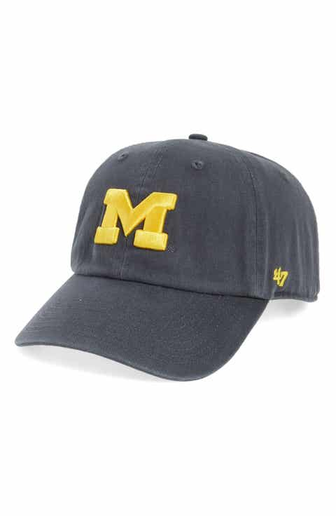 university of michigan fitted baseball hat state nike wolverines clean up cap