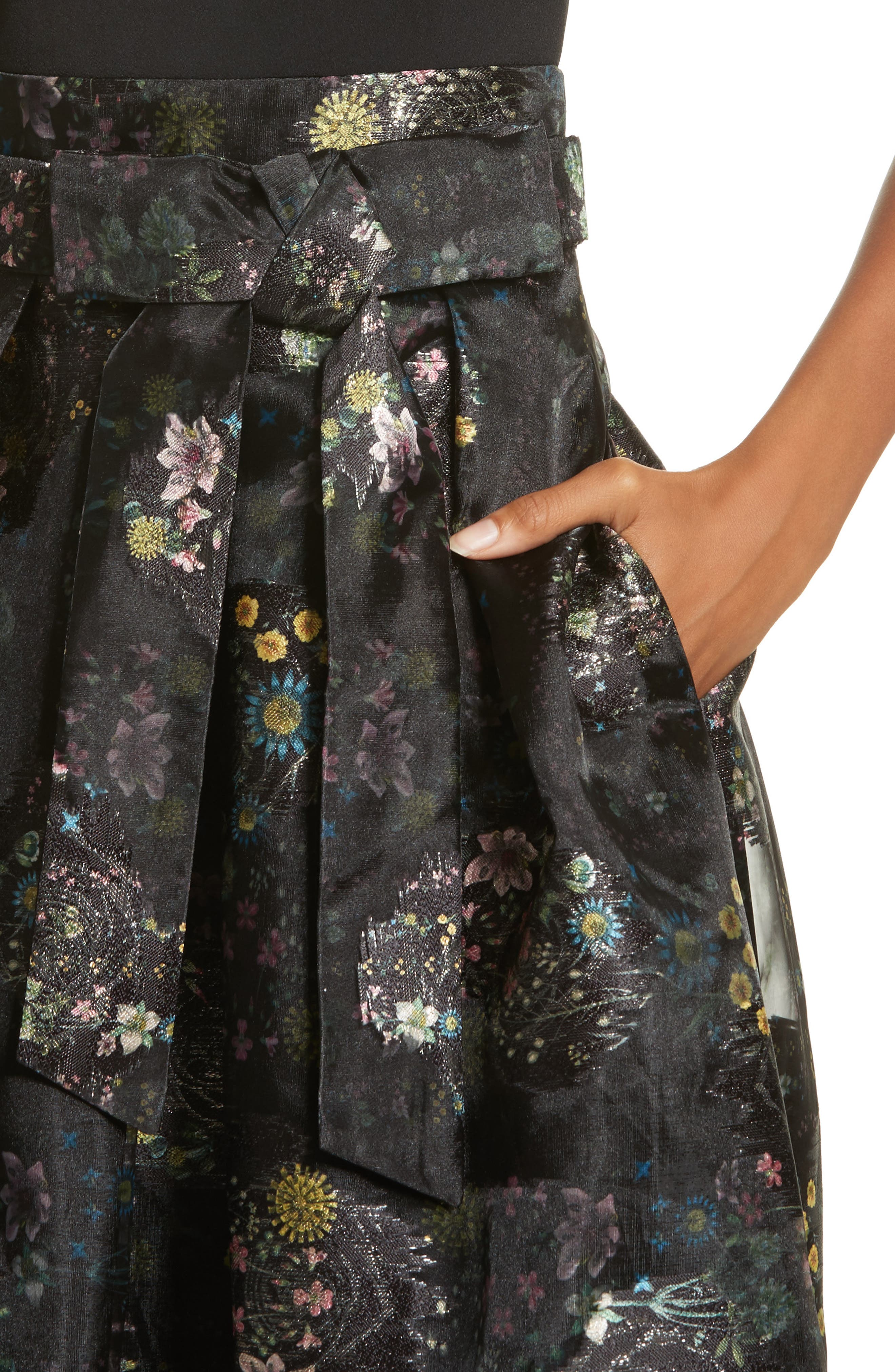 Alternate Image 4  - Ted Baker London Freay Metallic Floral Fit & Flare Dress