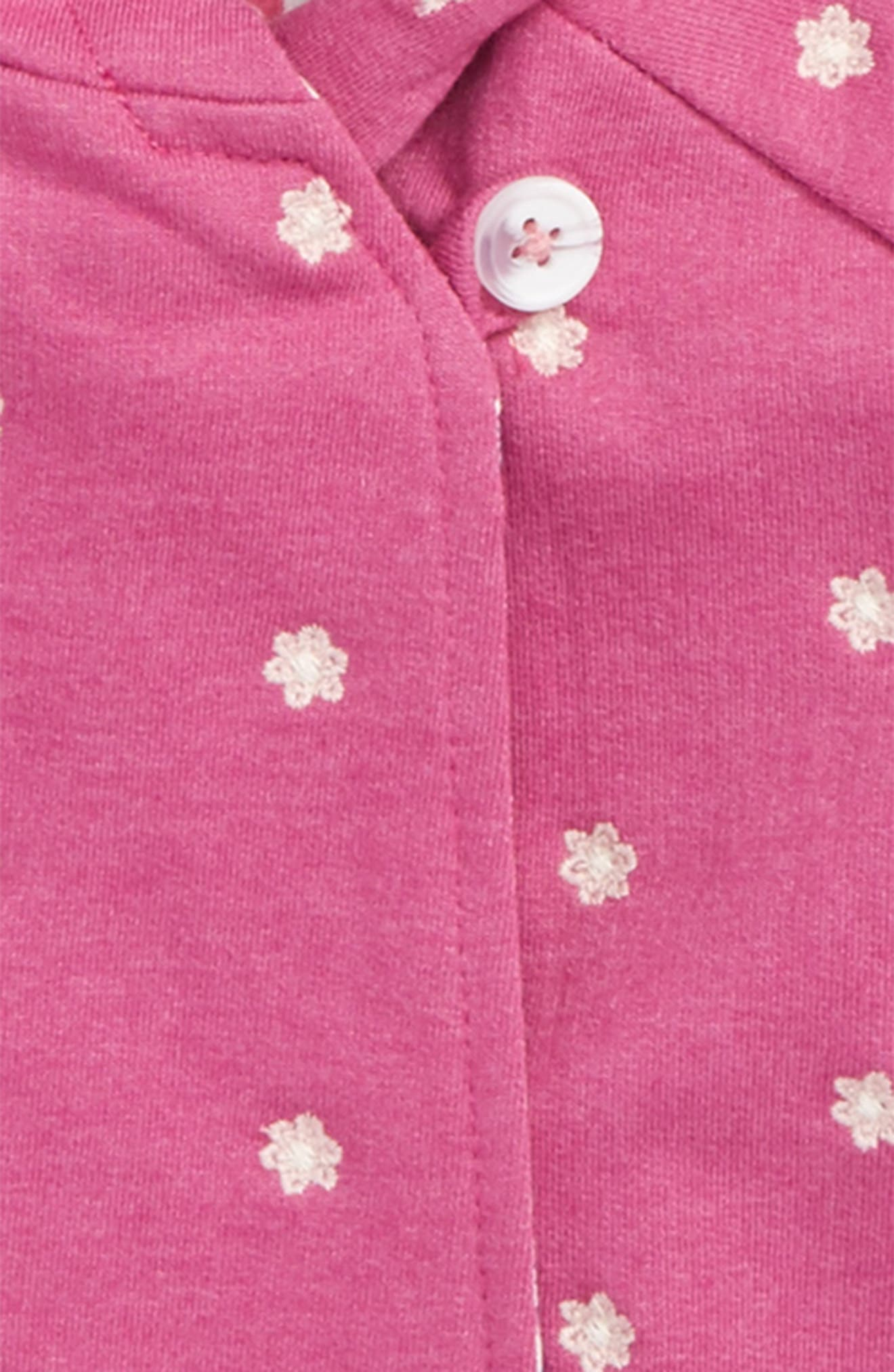 Alternate Image 2  - Hatley Embroidered Hoodie (Baby Girls)