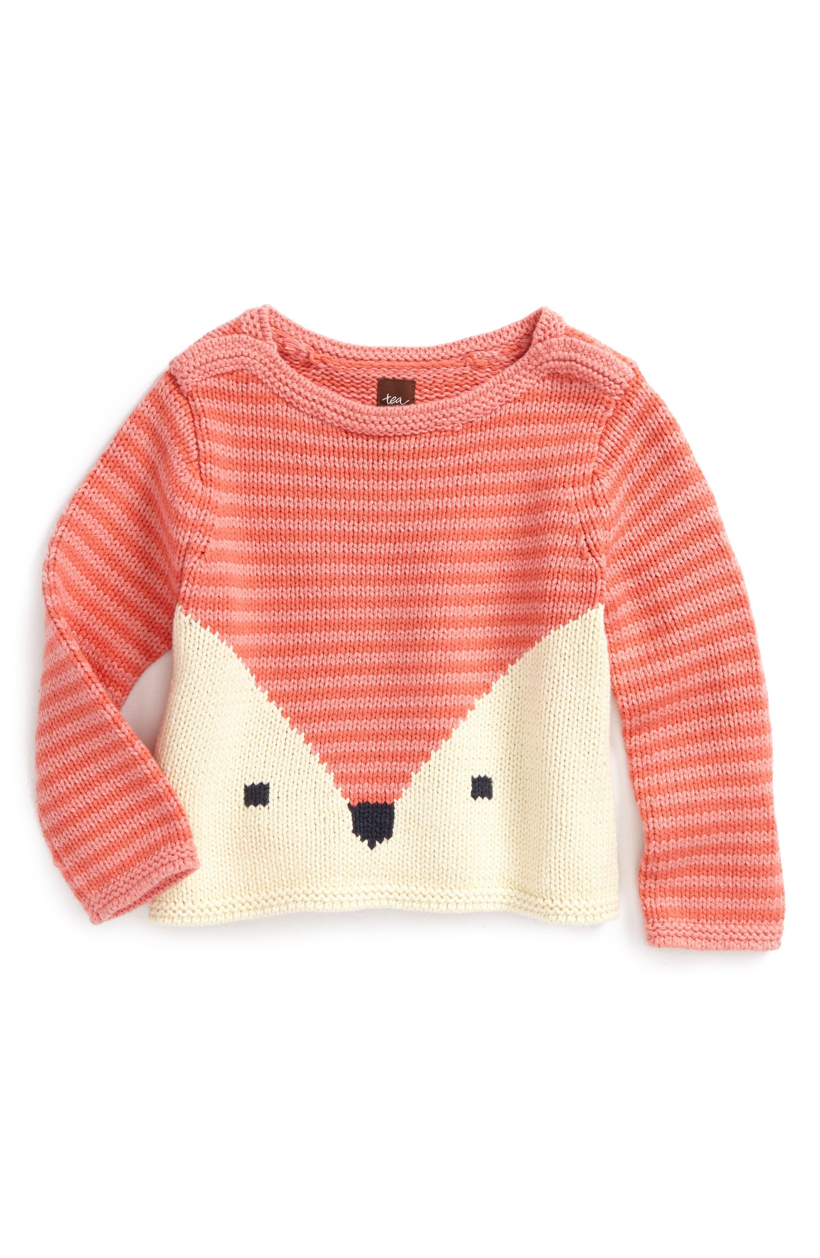 Main Image - Tea Collection Fox Sweater (Toddler Girls, Little Girls & Big Girls)