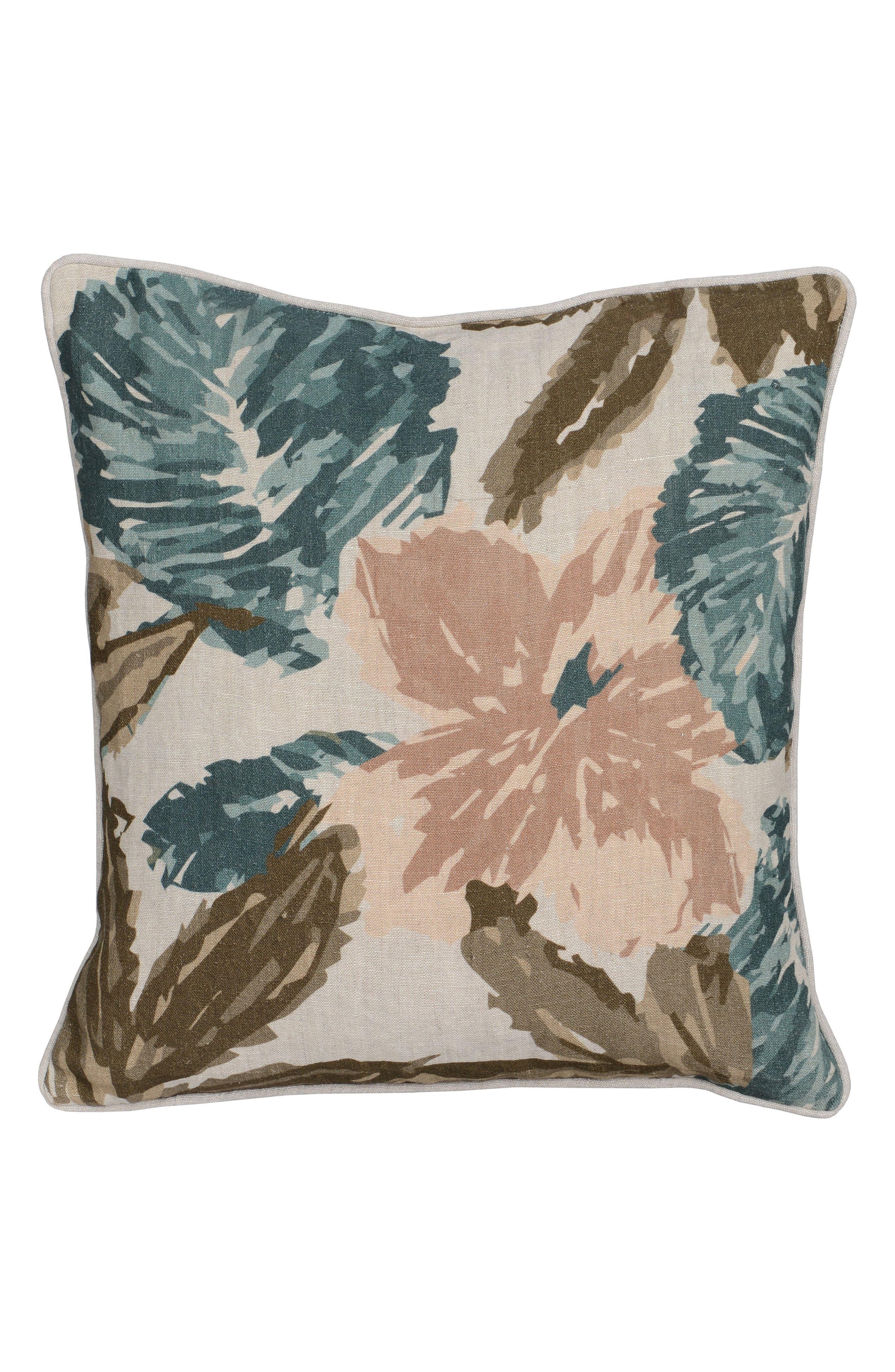 Callie Pillow,                         Main,                         color, Beige/ Teal/ Blush