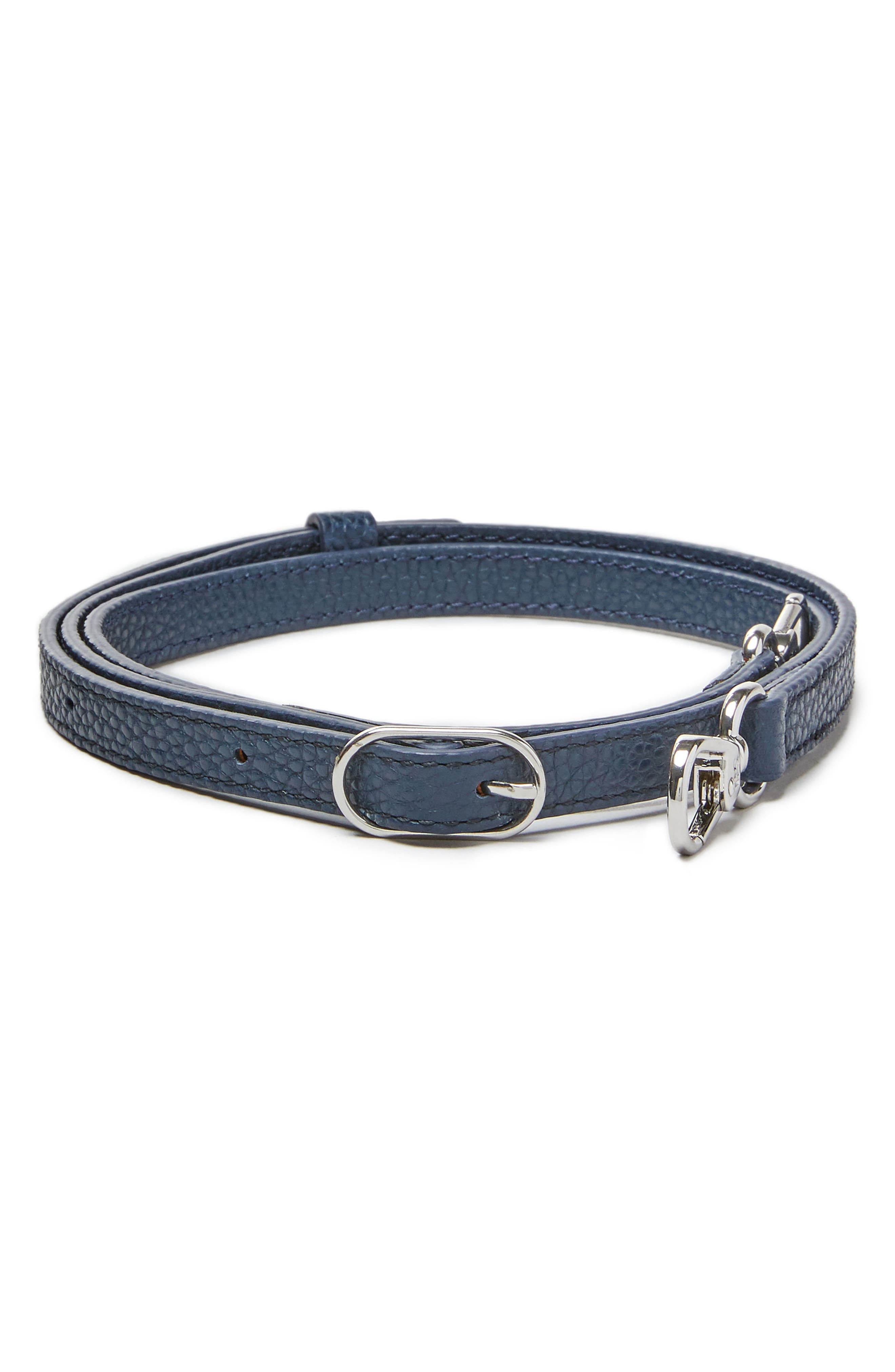Leather Fanny Strap,                         Main,                         color, Pebbled Oxford