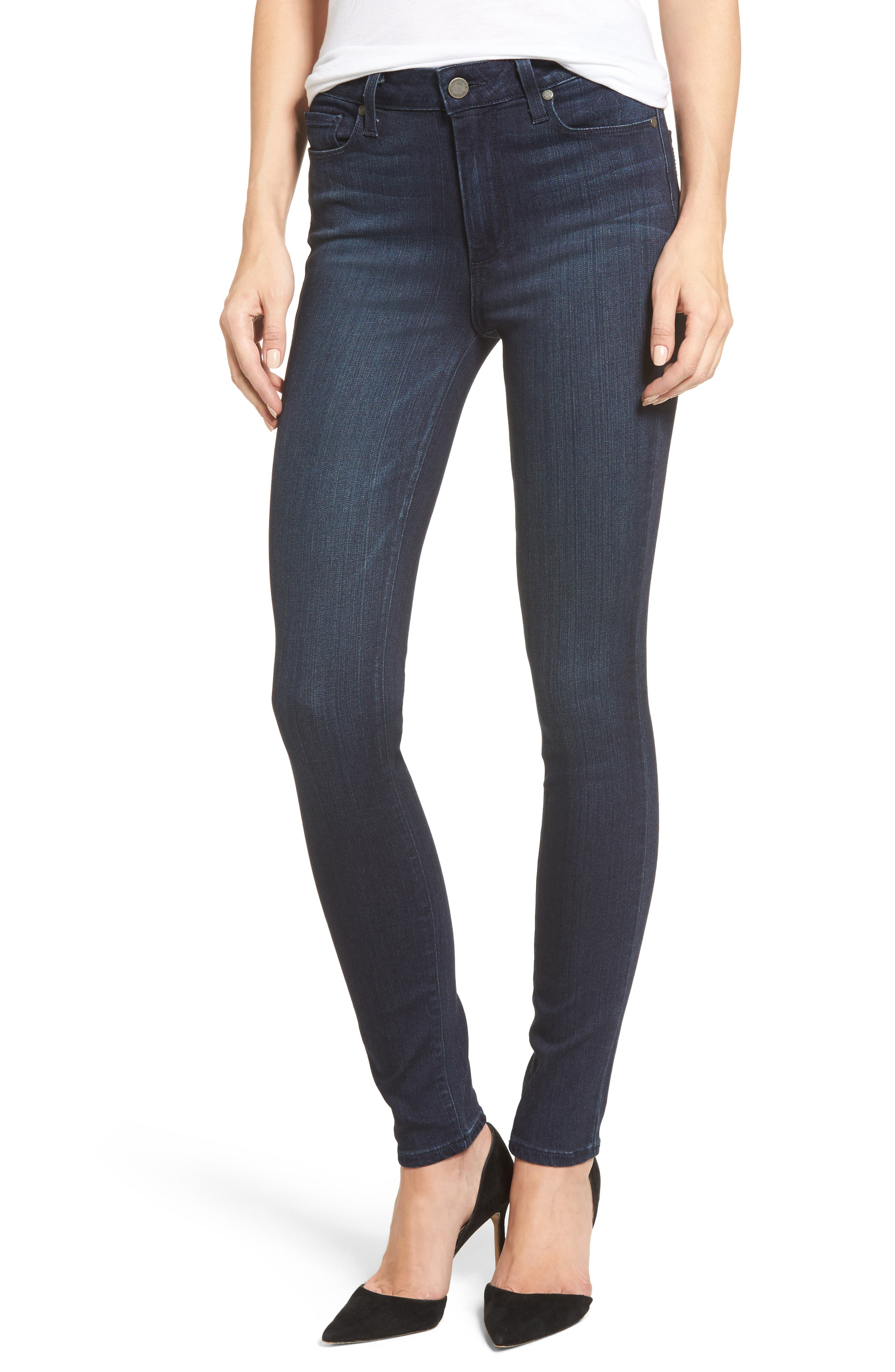 Alternate Image 1 Selected - PAIGE Transcend - Hoxton High Waist Ultra Skinny Jeans (Midlake)
