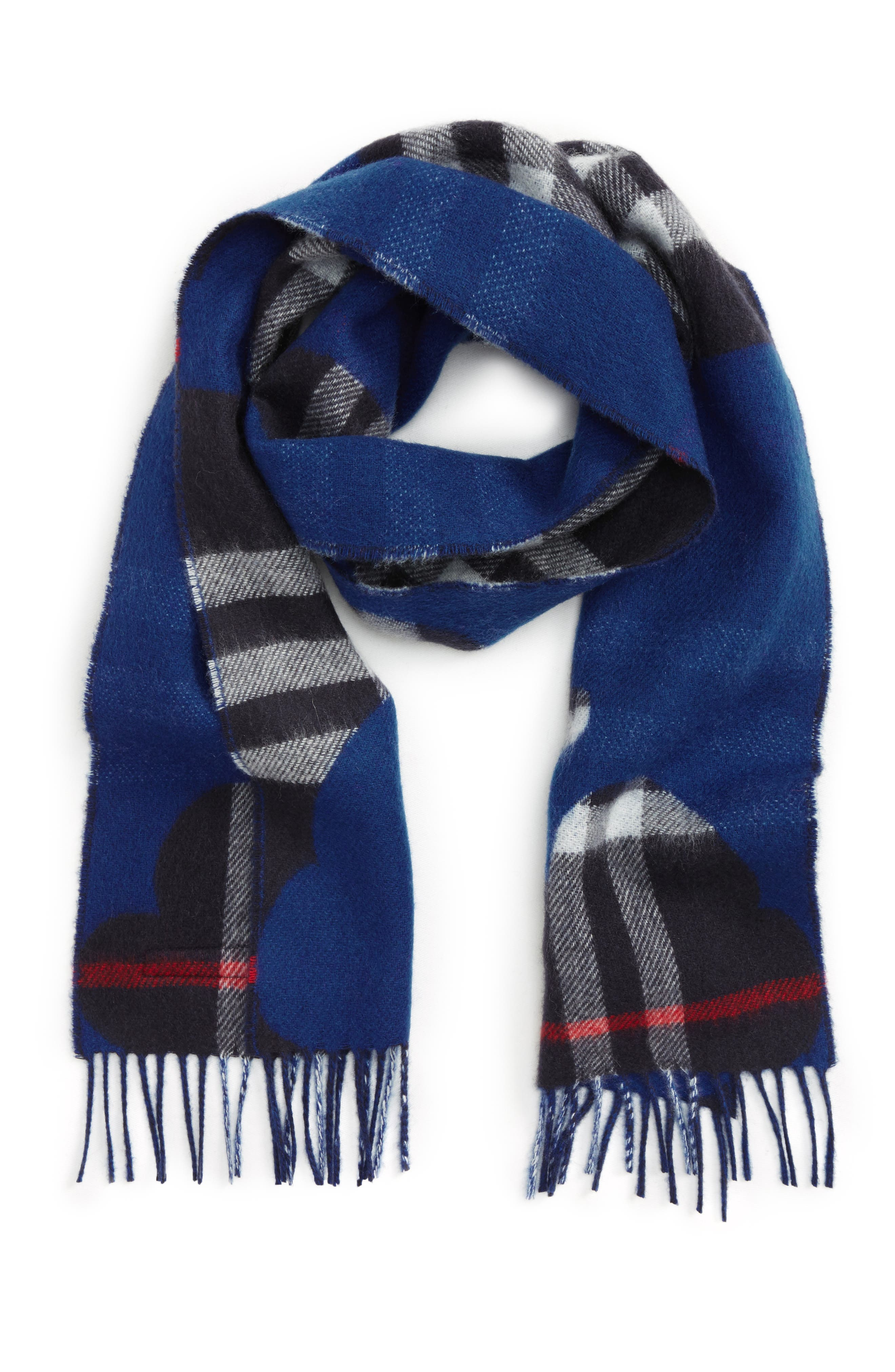 Alternate Image 1 Selected - Burberry Rain Check Cashmere Scarf (Kids)