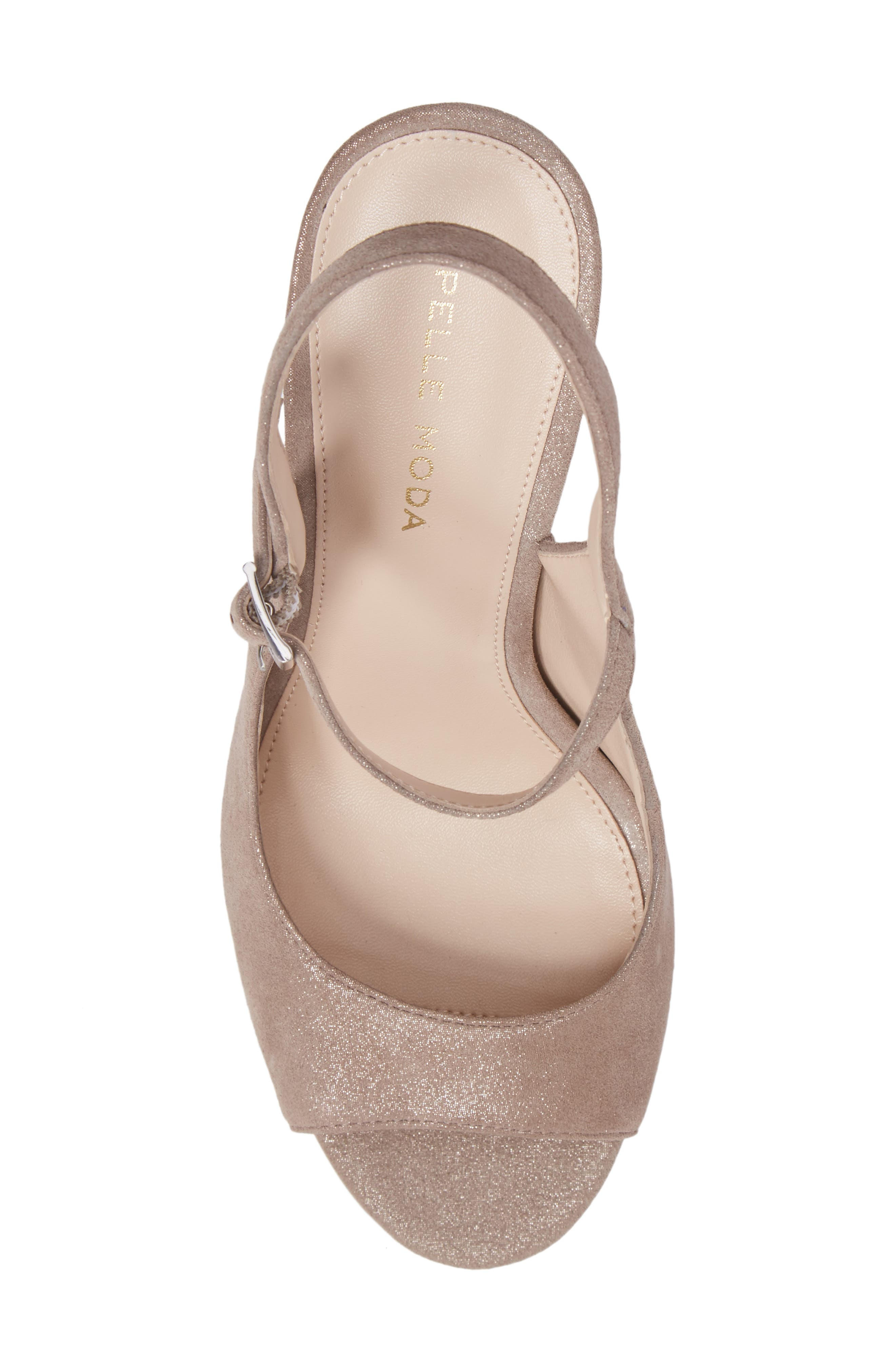 Kinsey Sandal,                             Alternate thumbnail 5, color,                             Taupe Leather