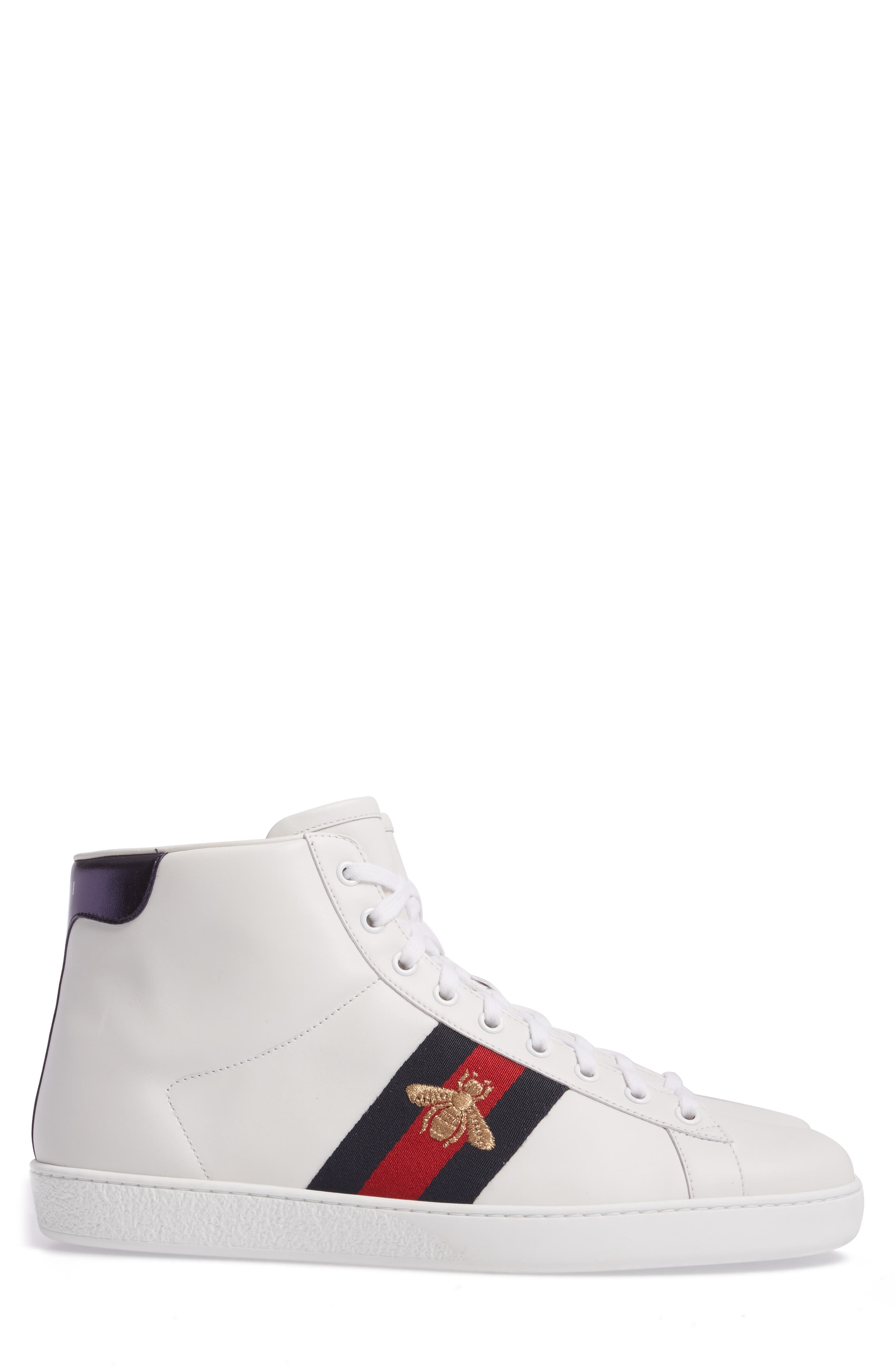 Alternate Image 3  - Gucci New Ace High Bee Sneaker (Men)